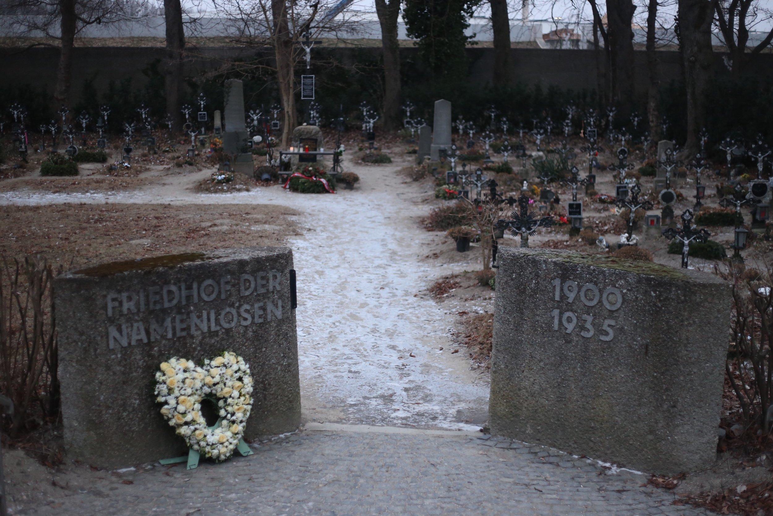 Friedhof Namenlosen cemetery Vienna.