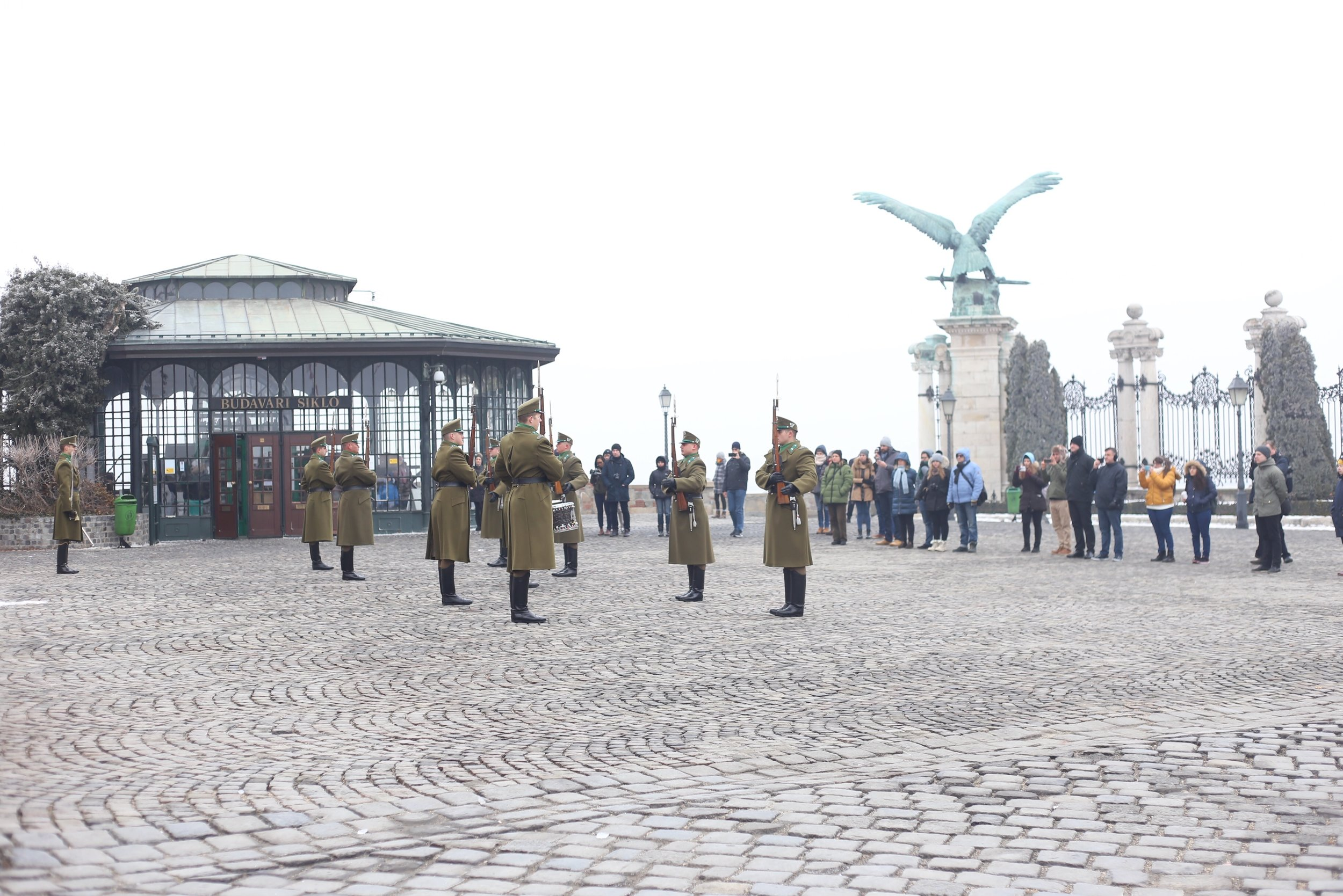 Changing of the guards at Buda Castle.