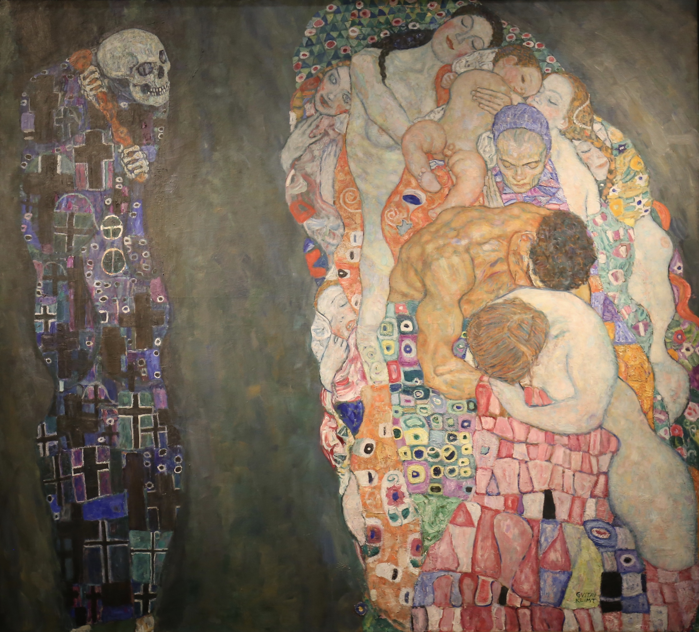Death and life by Gustav Klimt.