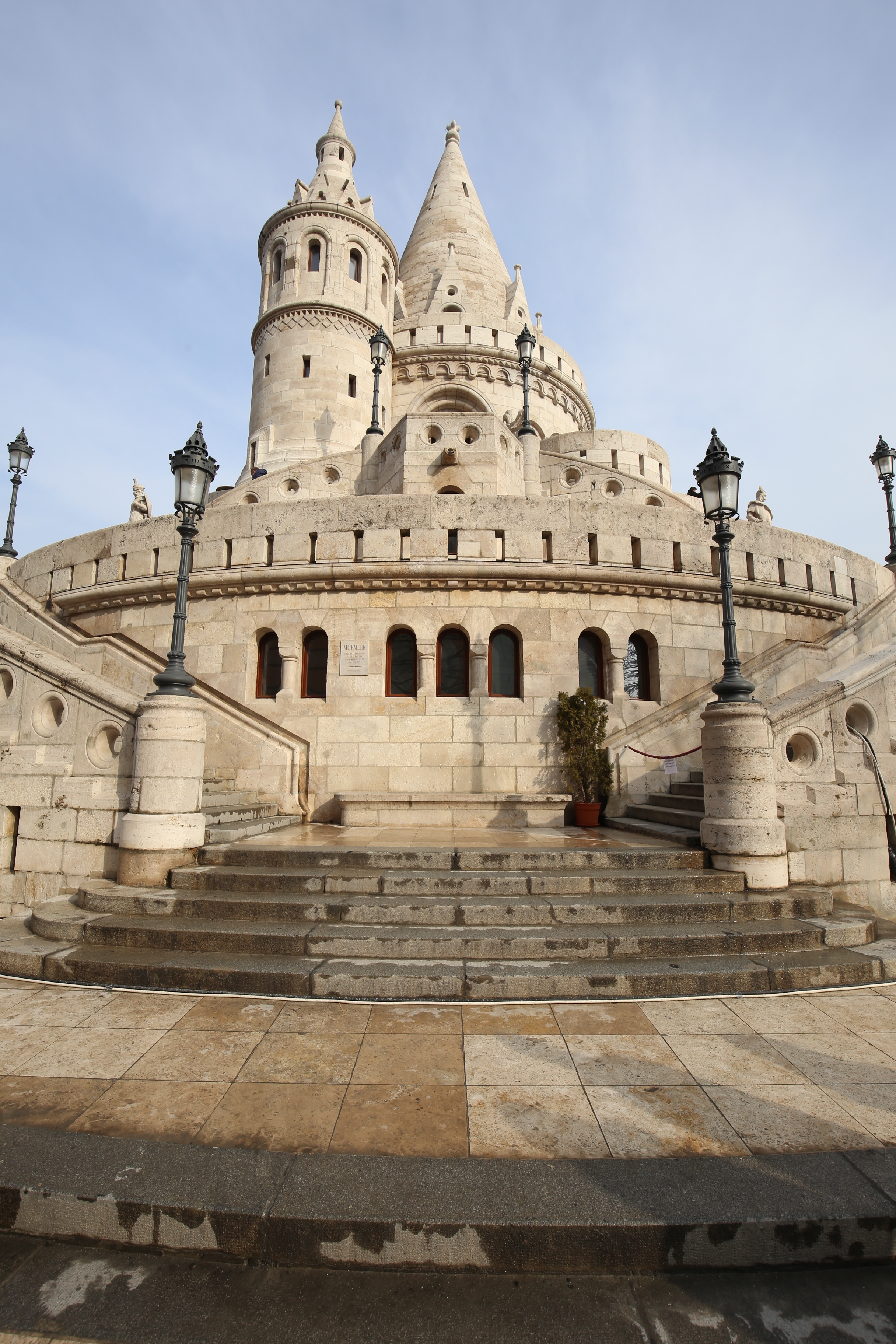 A real Disney castle - white turrets of the Fisherman's Bastion in Budapest.