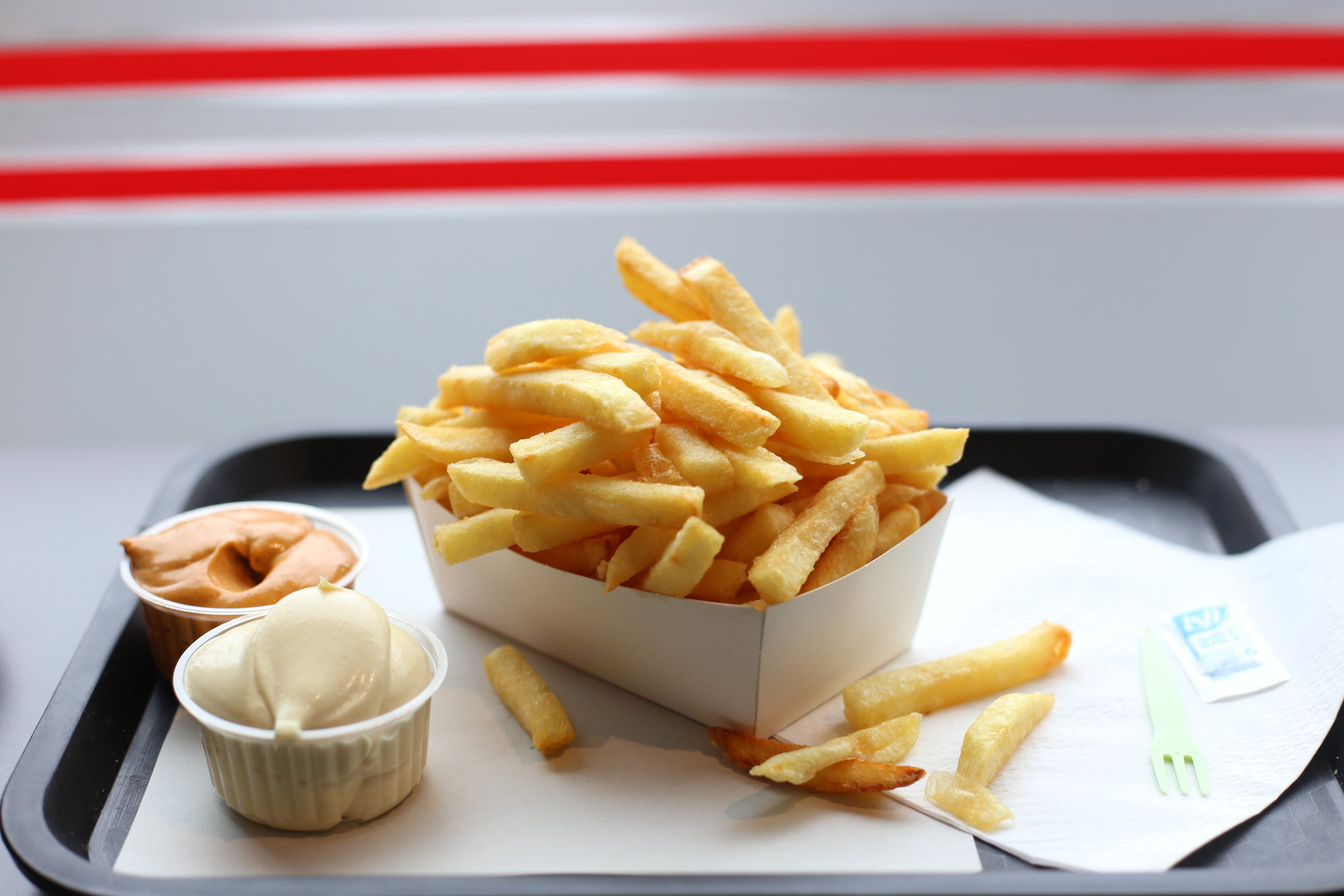Belgian fries - twice fried, extra crunchy, perfect.