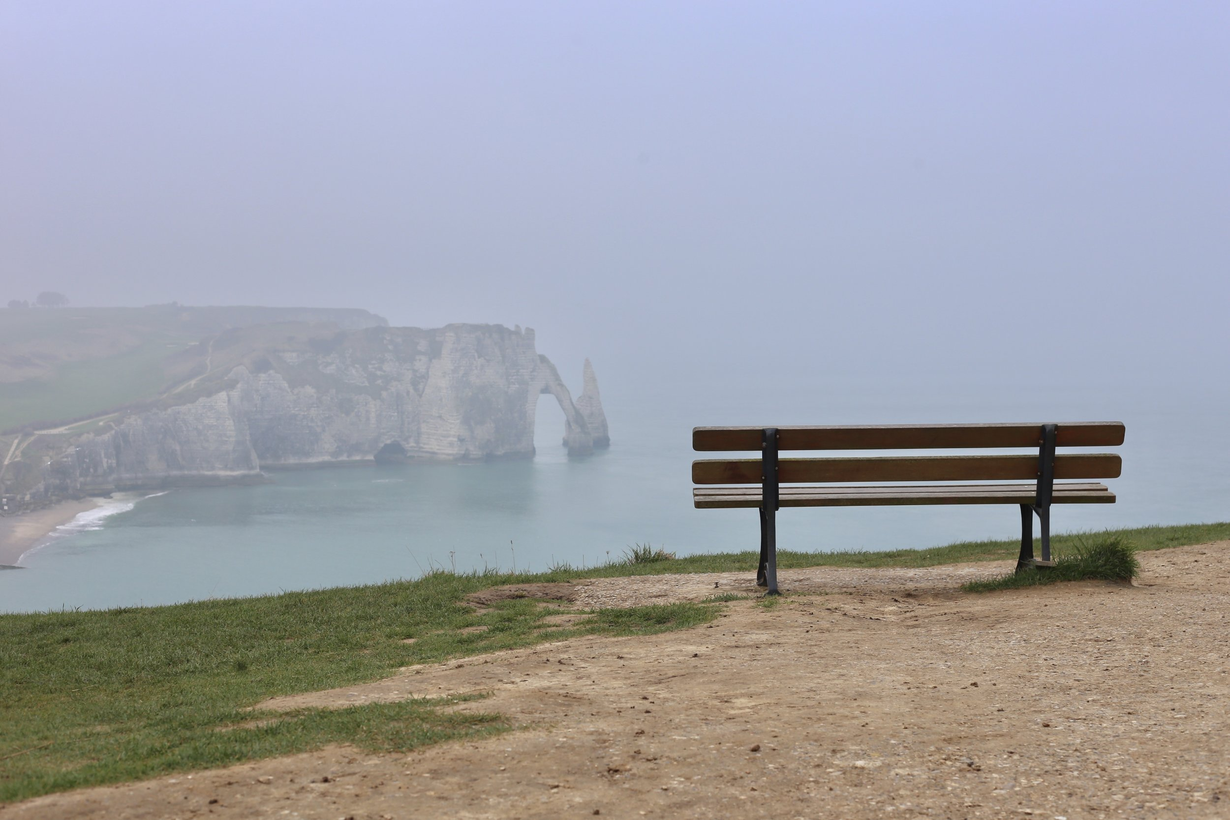 Seat on the sea cliffs.