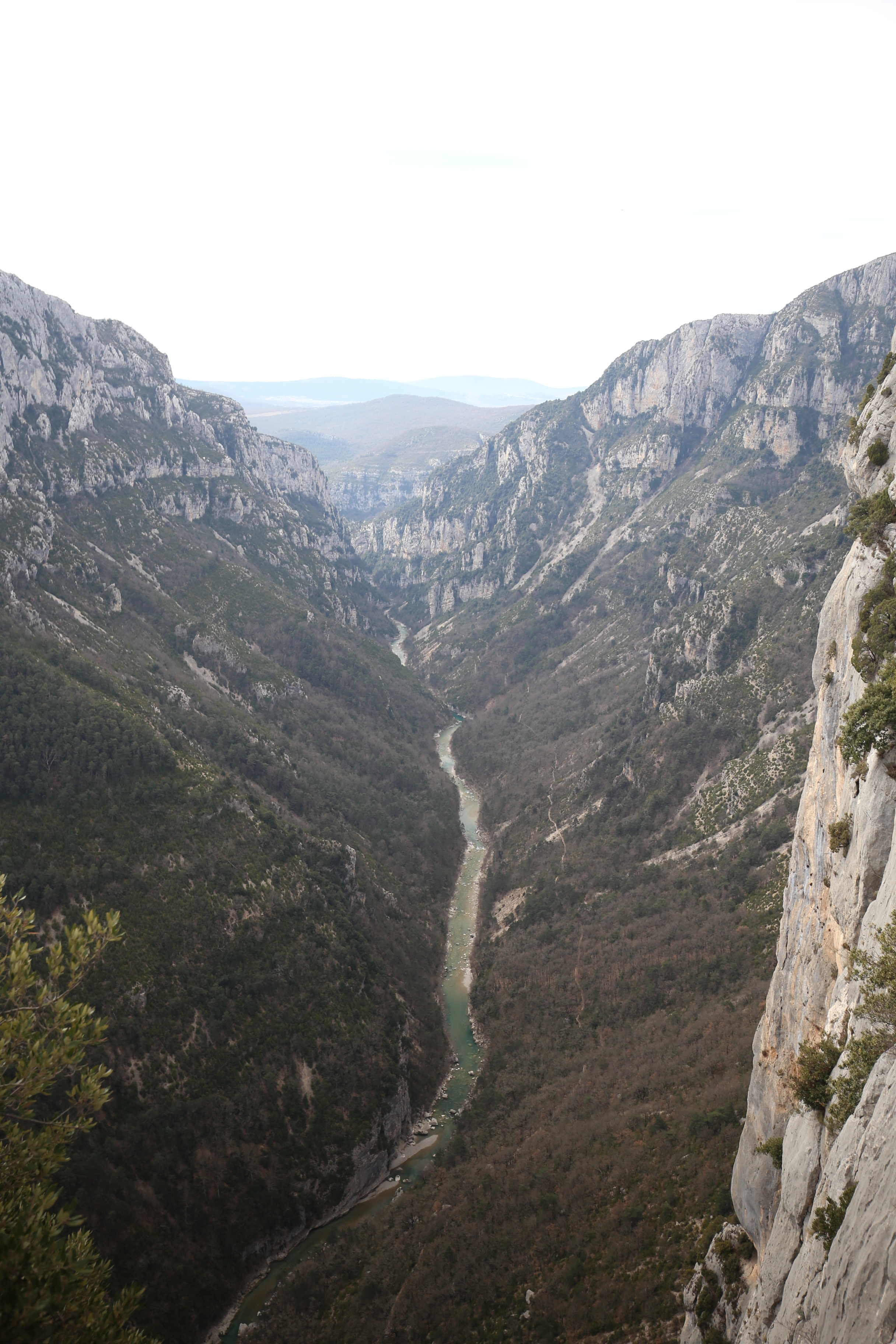 The view of the Verdon Gorge while driving the high roads.