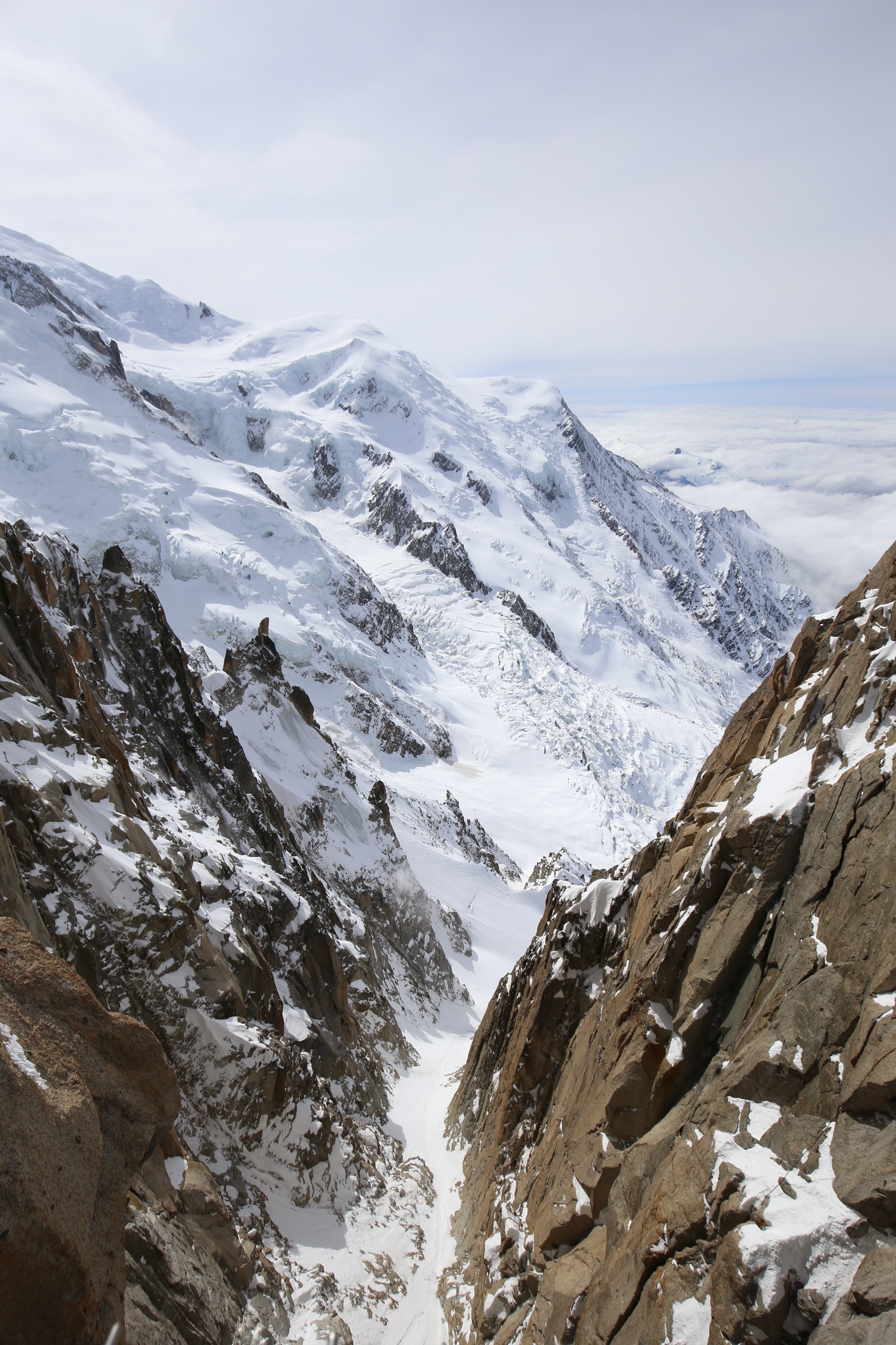 The breathtaking views from Mont Blanc Aiguille du Midi.