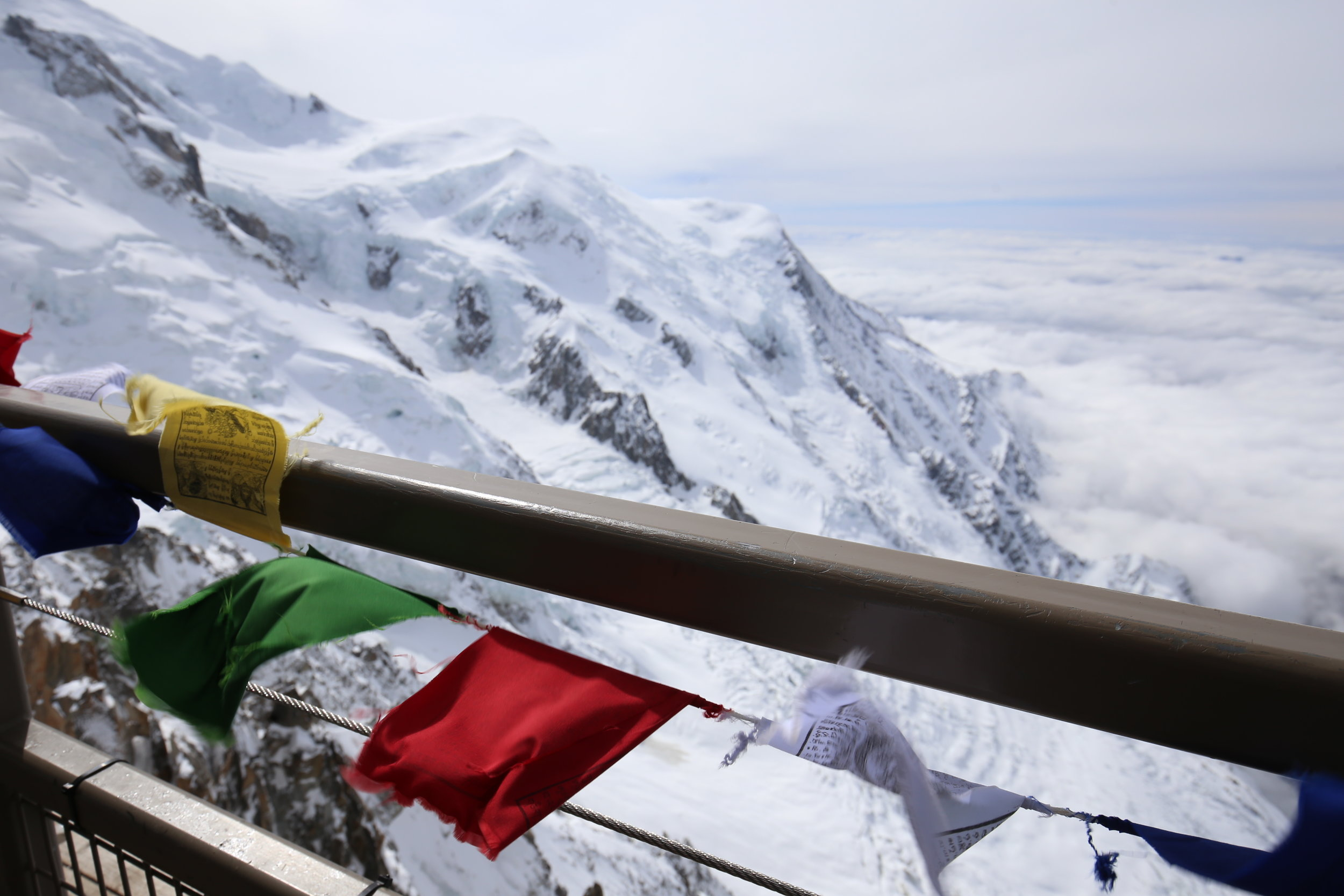 Prayer flags on the mountain.