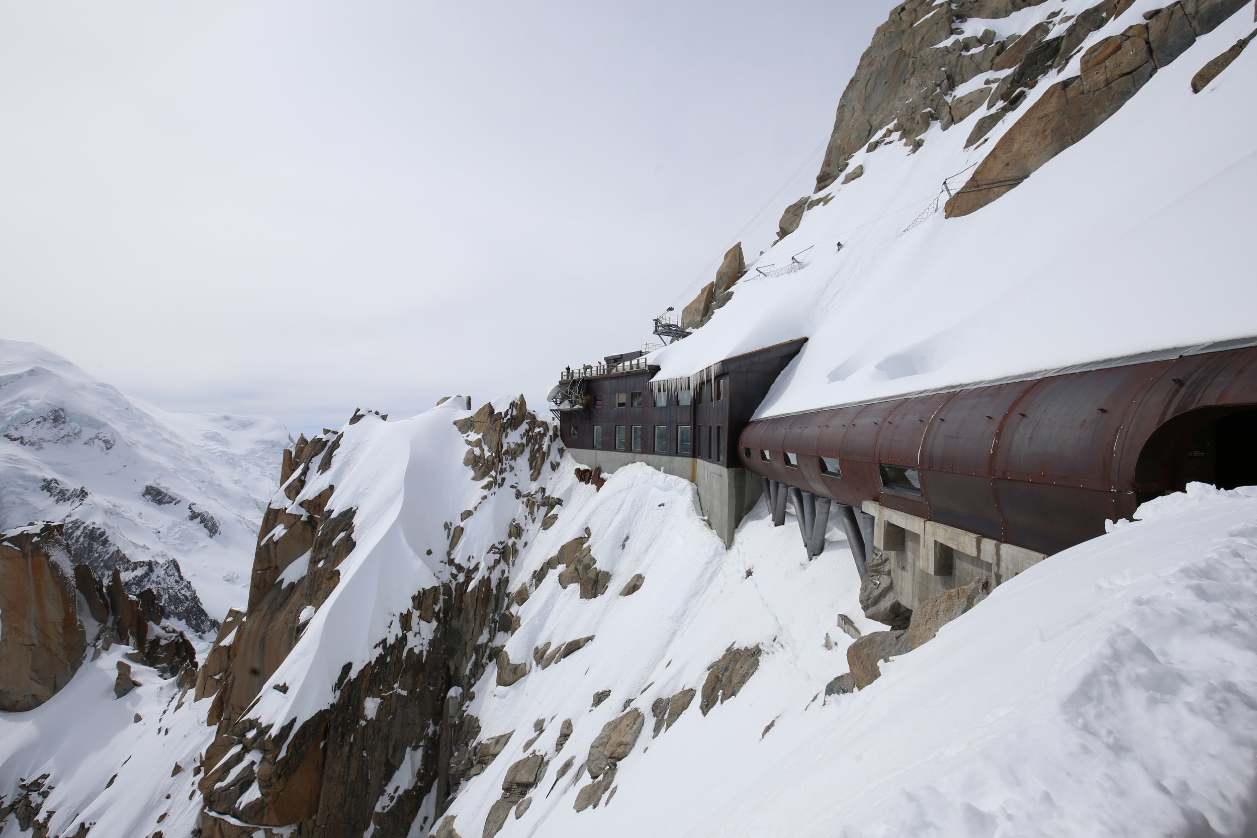 The iron tunnel on the mountain top.