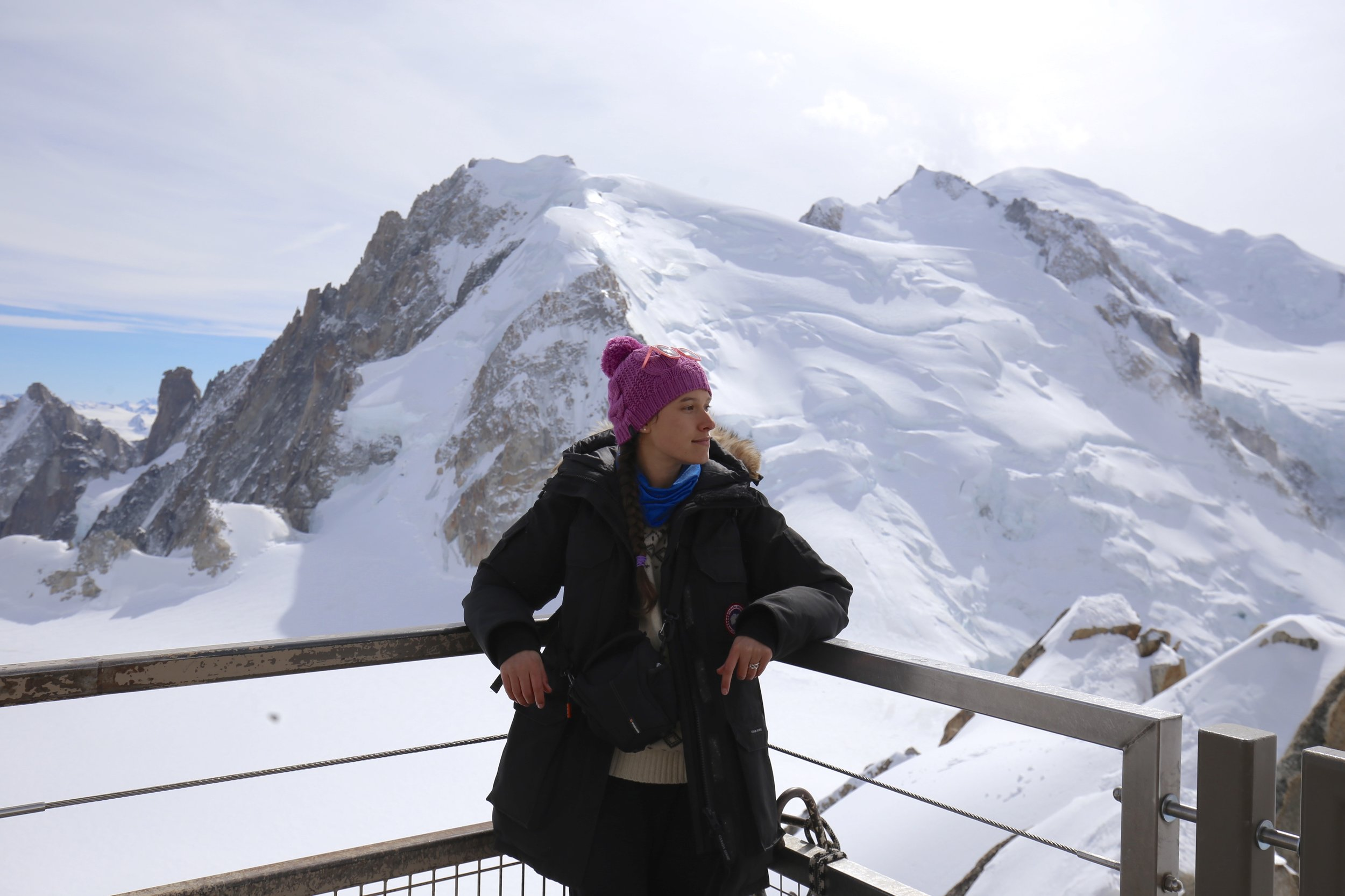 Me, Zoe, looking over Mont Blanc.