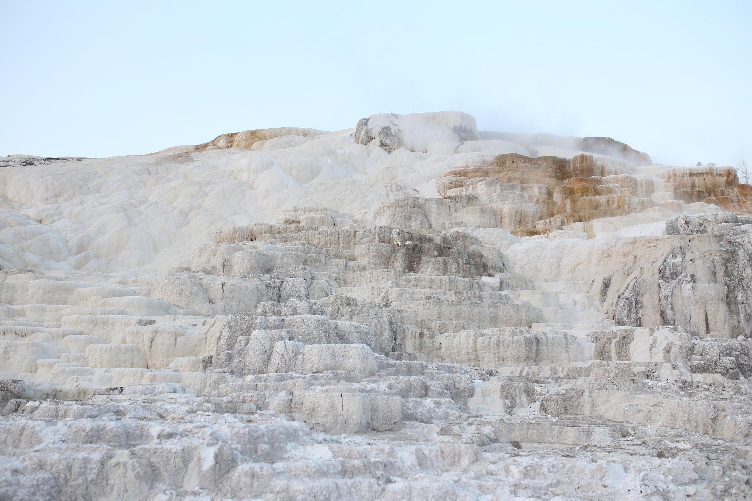 white terraces yellowstone