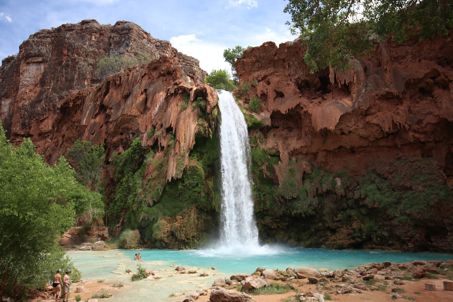 SWIMMING AT HAVASUPAI