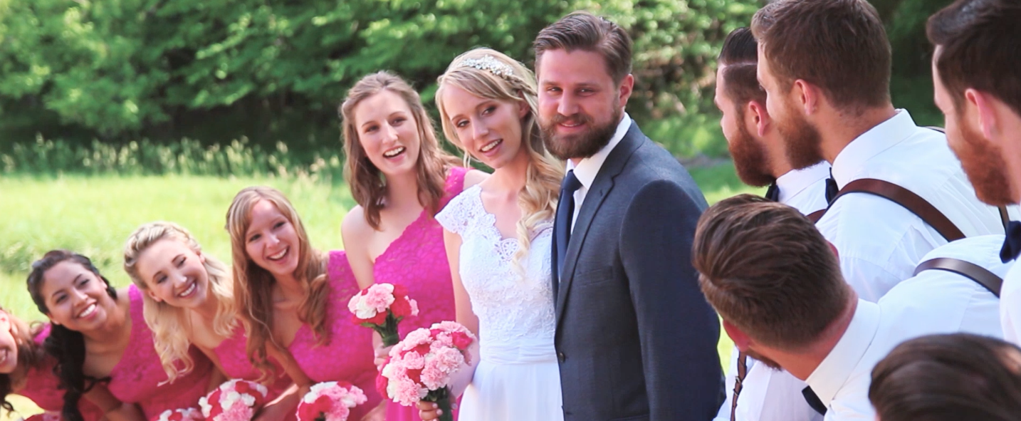 Kyle & Becca's entire wedding party knew each other, which made for great footage.