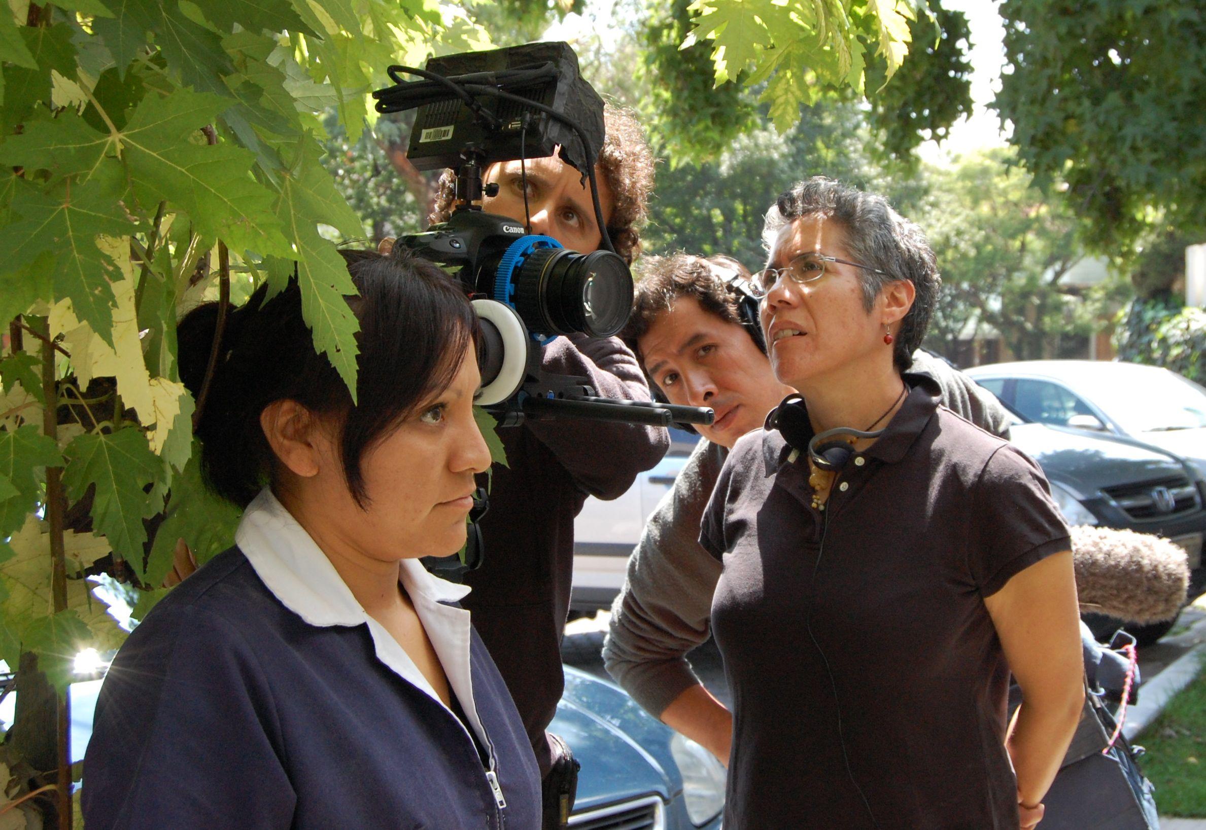 Cristina on set of  Despertar  in Mexico City.