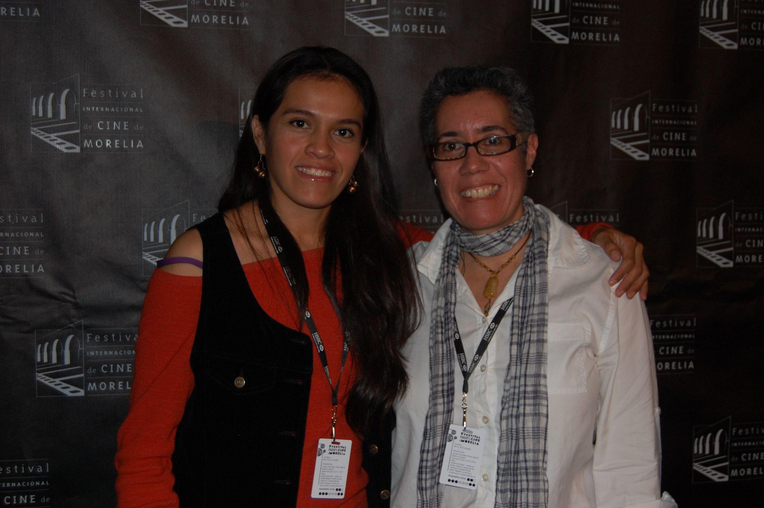 Miriam Balderas and Cristina at the Morelia International Film Festival for screening of  Despertar .