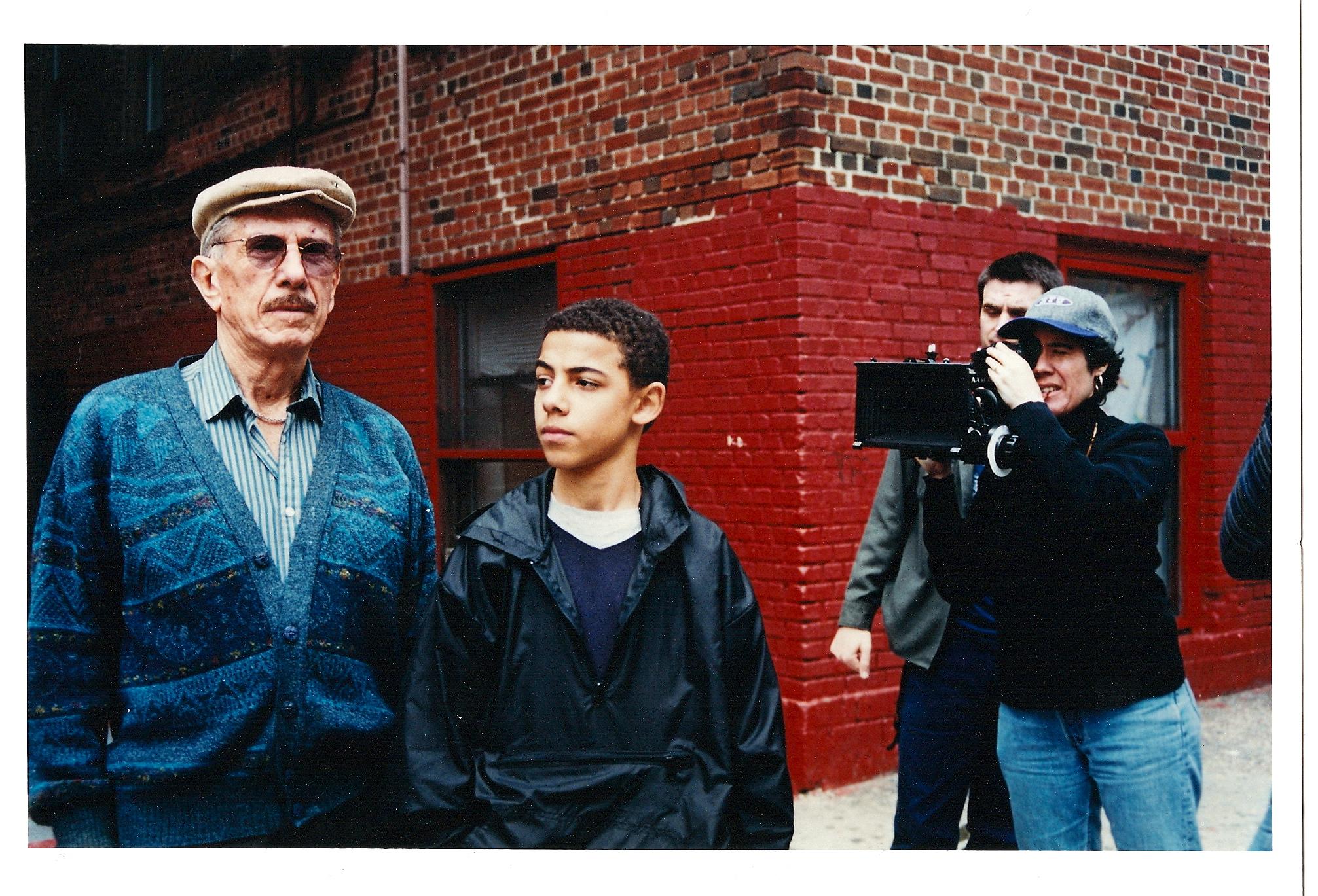 On set of  Ernesto  with Sylvestre Rasuk and DP Chad Davidson.