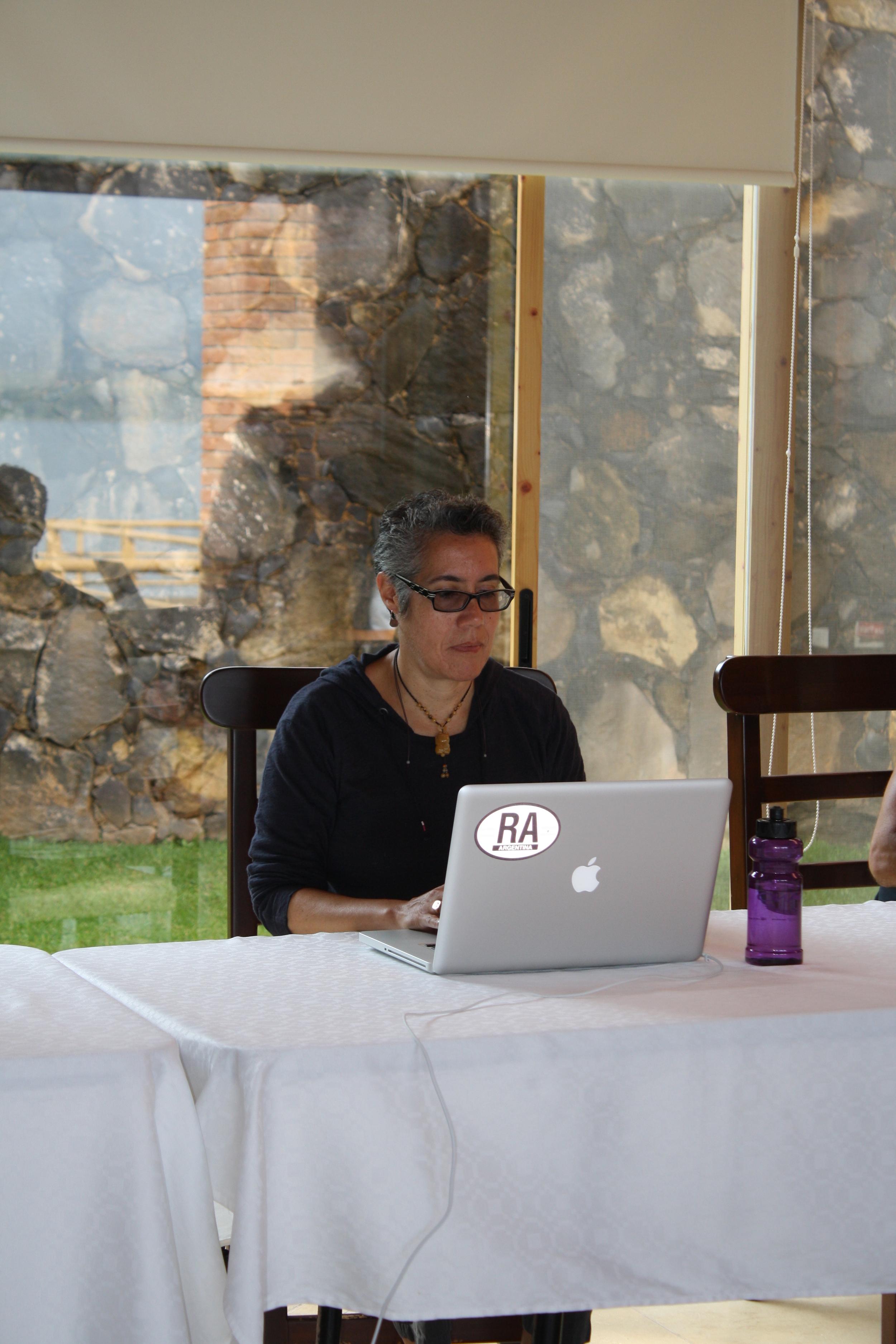 Working on script re-write at Cine Qua Non Lab Writer's Residency in Morelia, México.