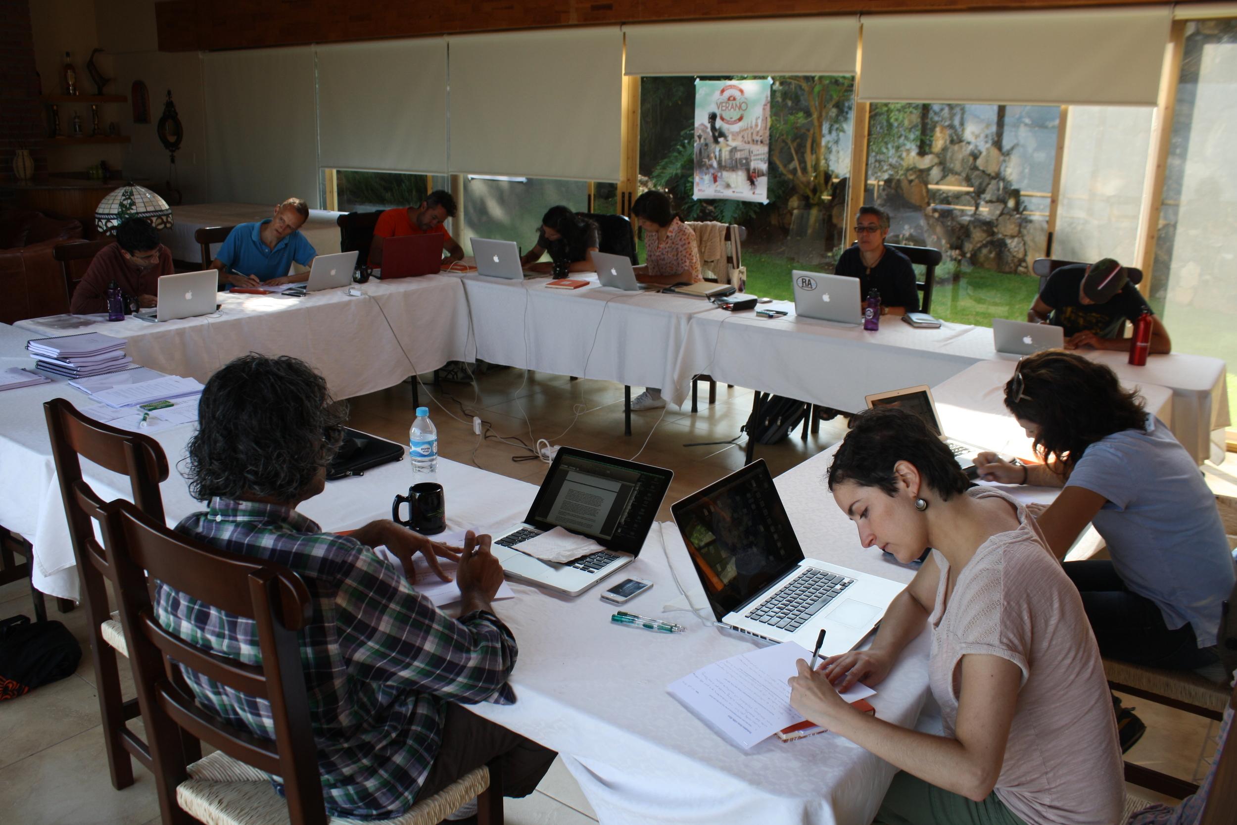 Cine Qua Non Lab Fellows at work in Morelia, México.