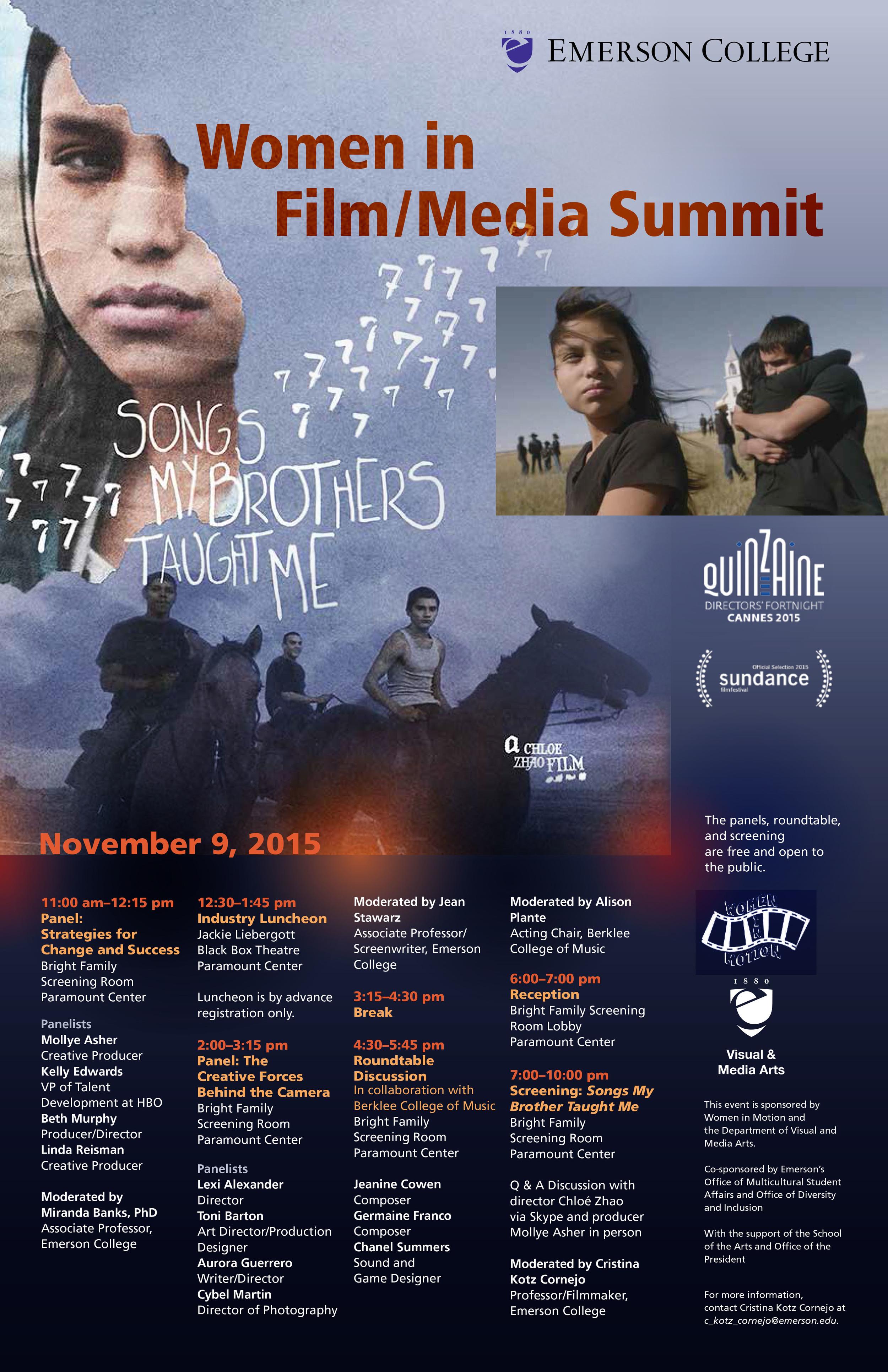 Women in Film & Media Summit Poster