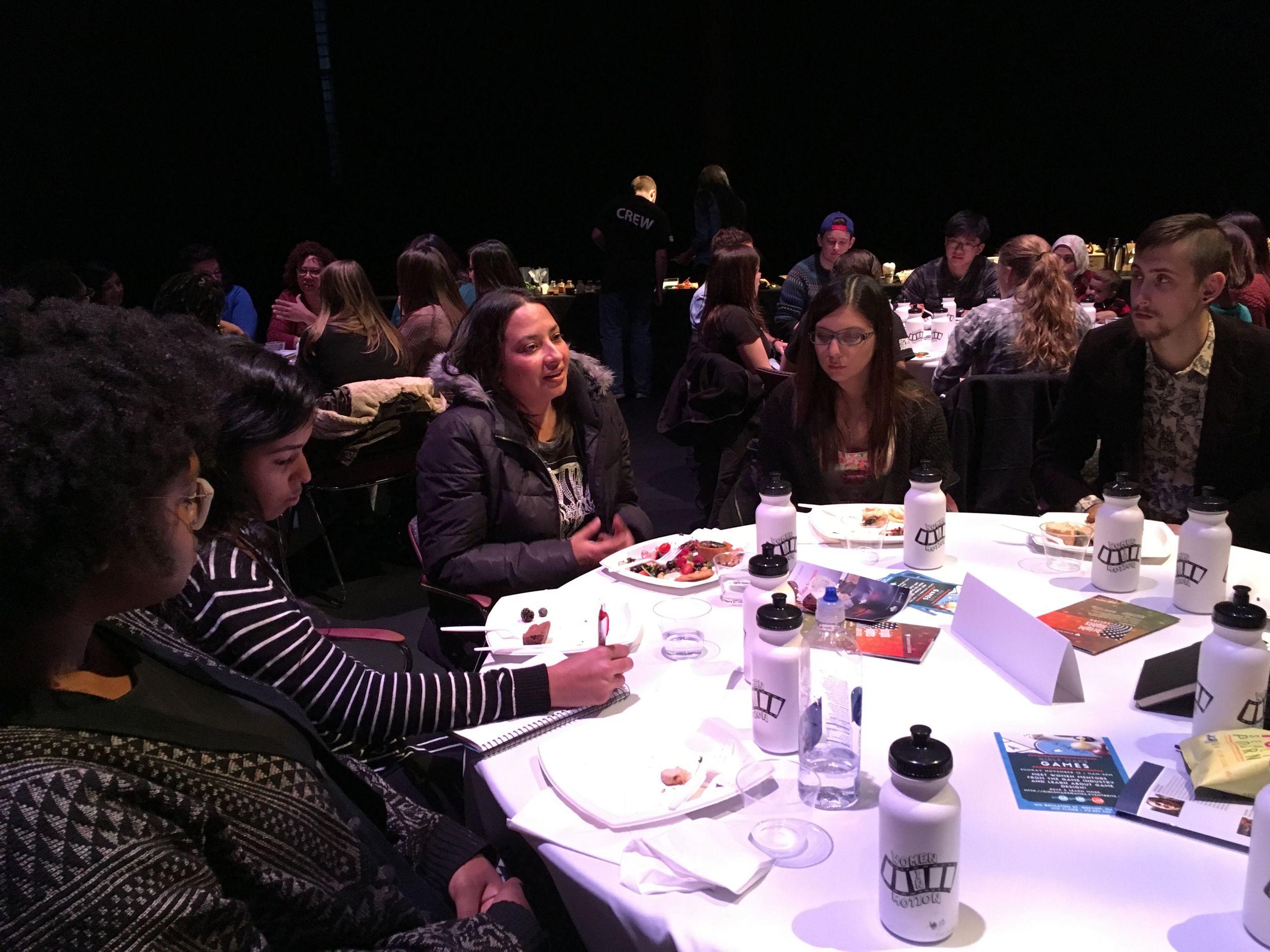 Writer/Director Aurora Guerrero with Emerson College students.