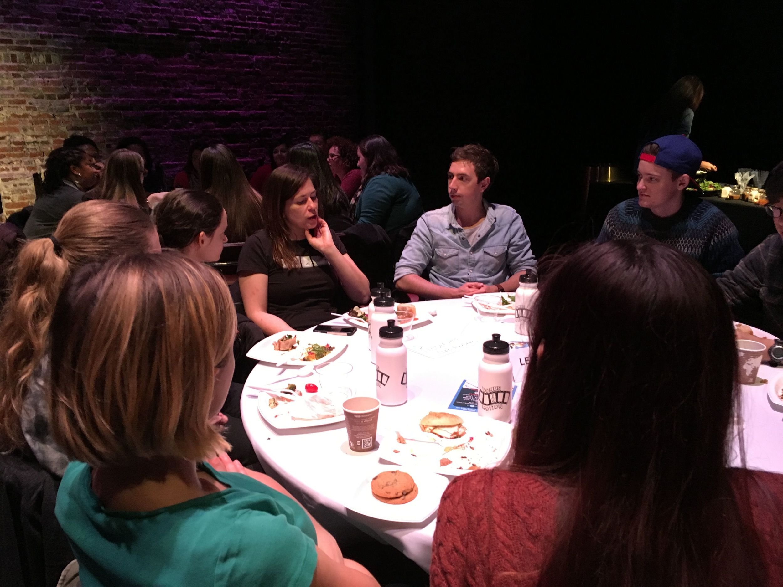 Director Lexi Alexander with Emerson College students.