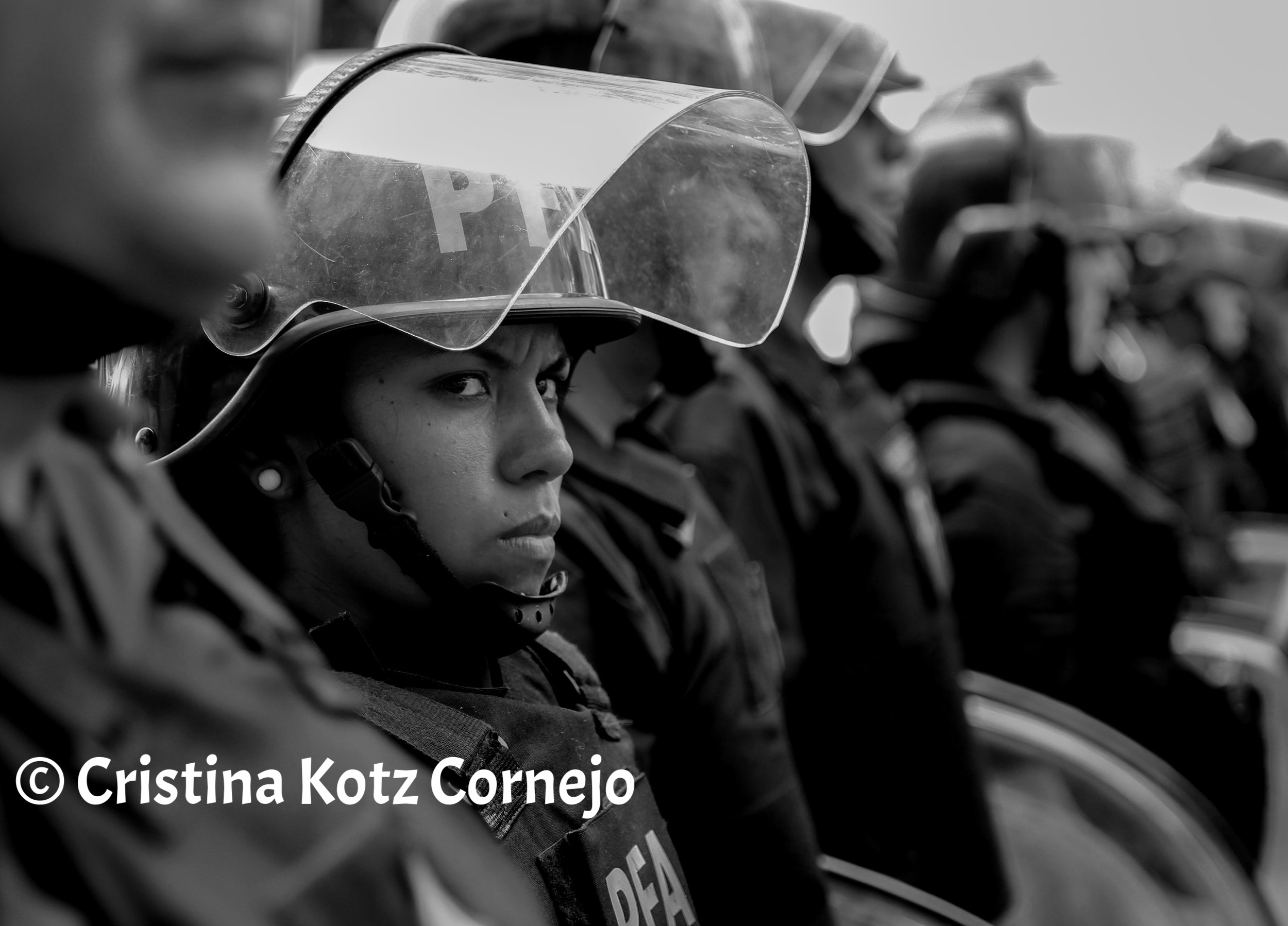 Riot Police Woman in Buenos Aires