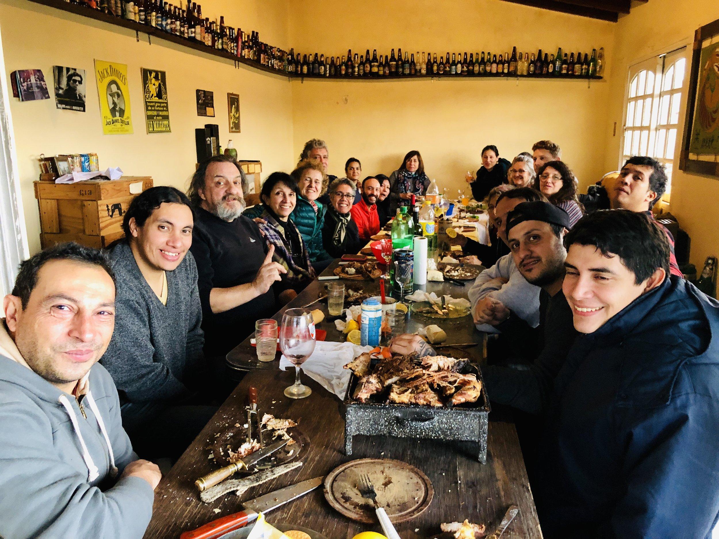 Integrantes de la Comunidad Lof Vicente Catrunao Pincén, Junio 2019