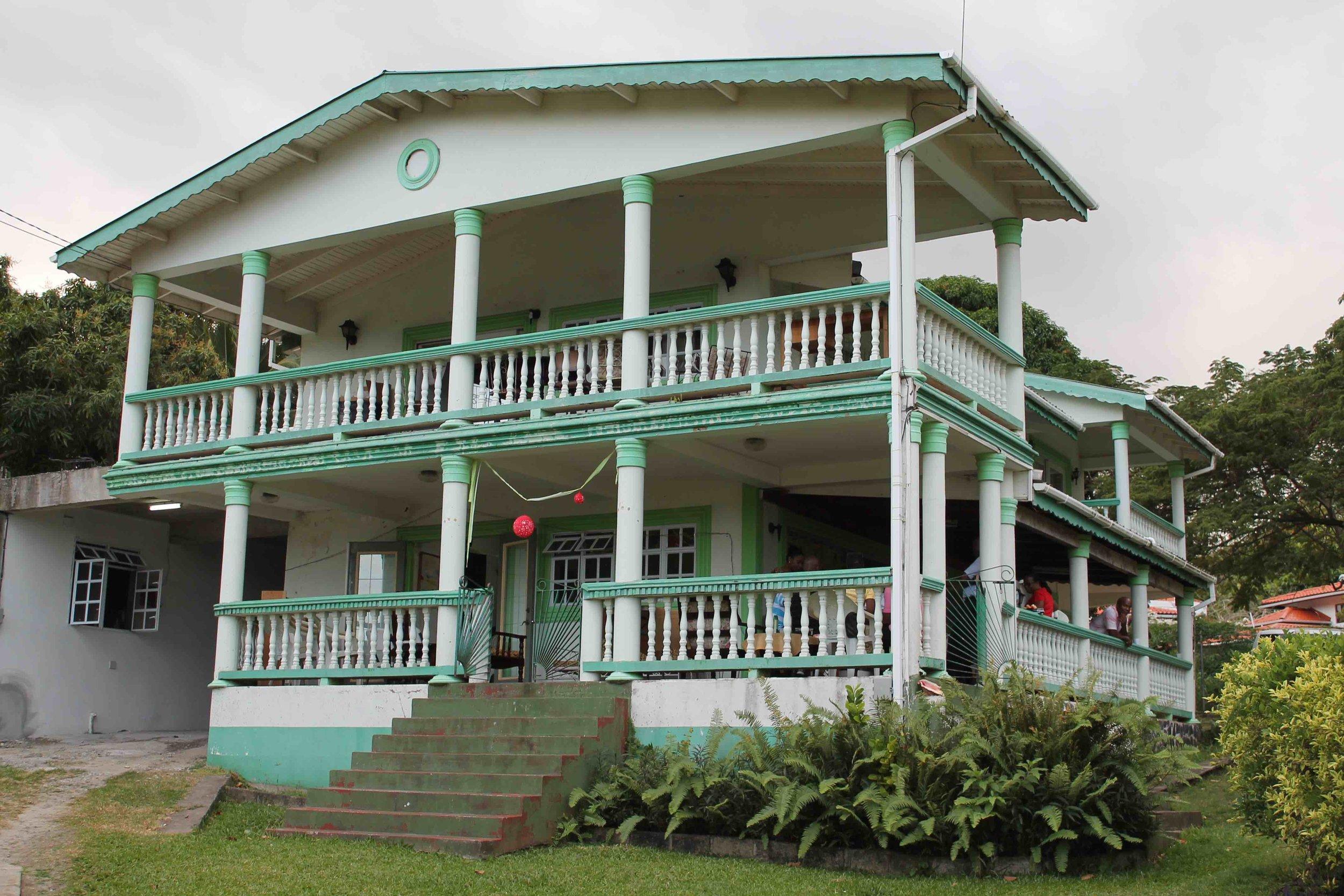 Main house at the base