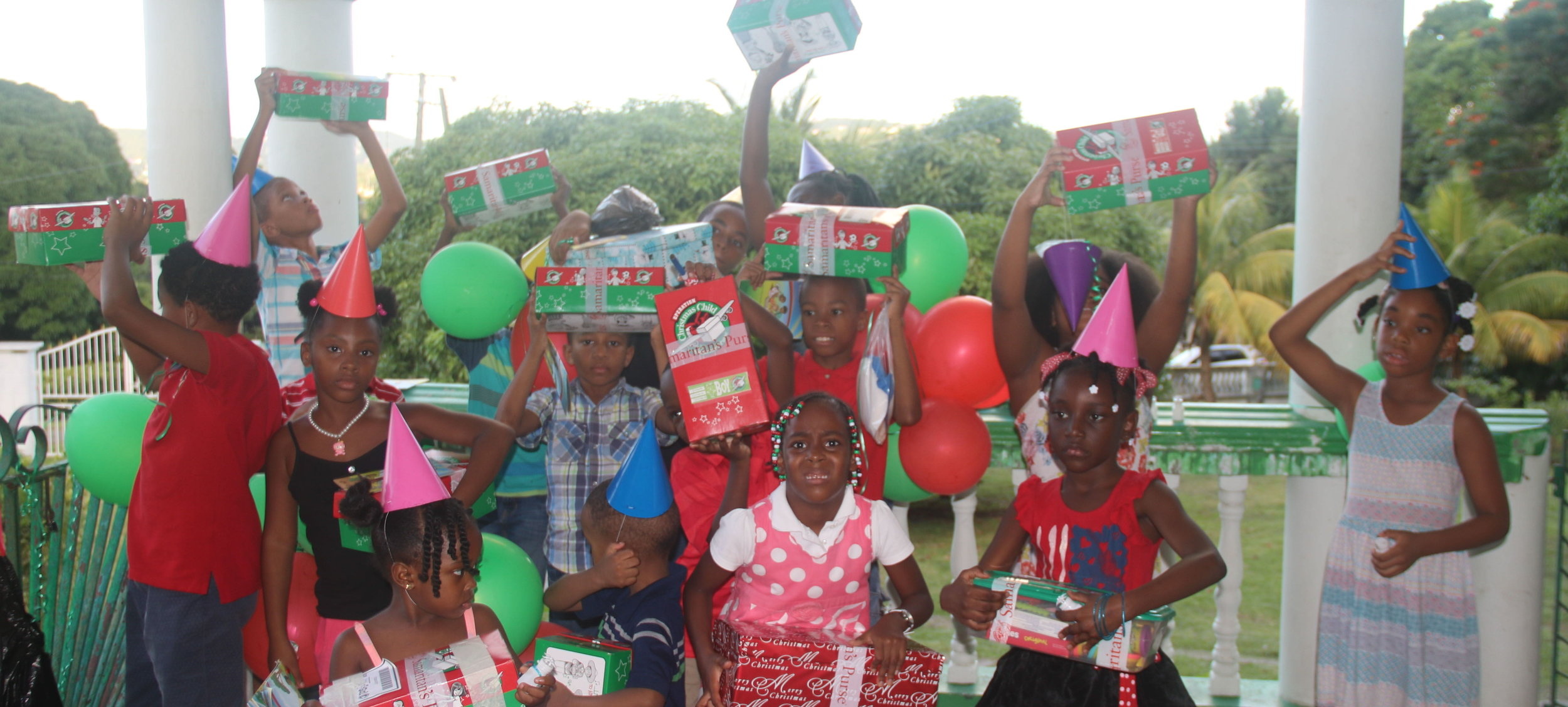 Kids from our kids club got gifts donated by Operation Christmas Child, of Samaritan's Purse