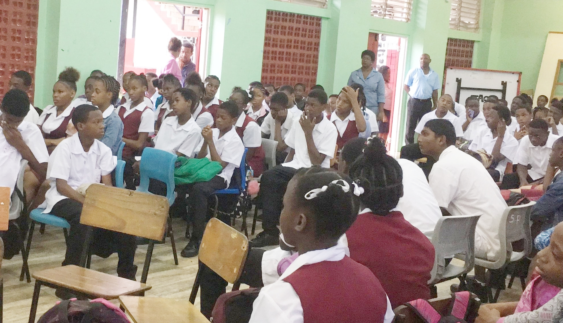 A view during a School session