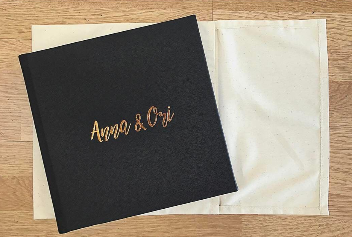 CUSTOM FONT WITH GOLD FOIL