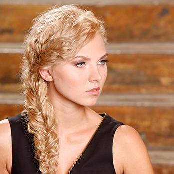 Blond plaited hair