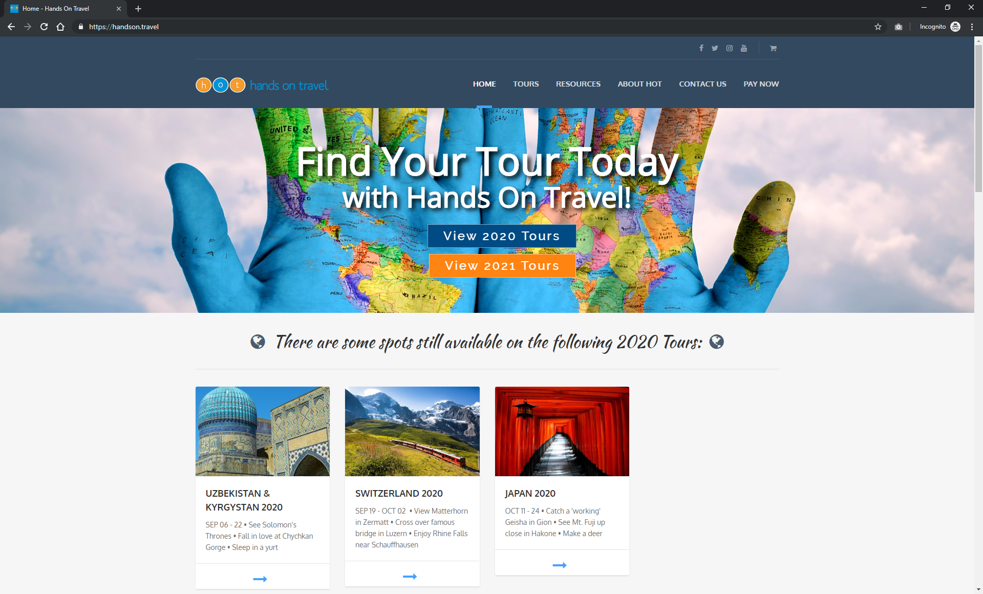 Hands On Travel Website - Providing unique tours around the world in sign language. Book your next tour with one of our Deaf guides!