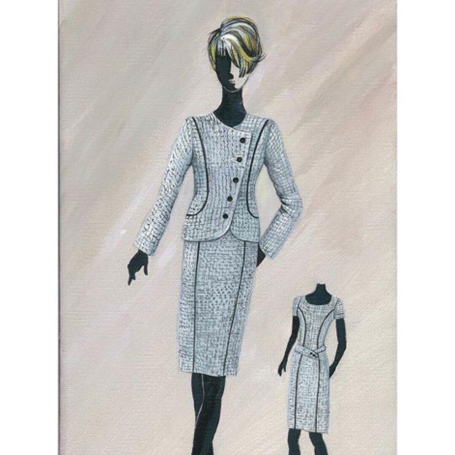 Something I designed many years ago and painted on canvas. ⠀⠀⠀⠀⠀⠀⠀⠀⠀ #timelessdesign #fashionillustration #canadiandesigner #fashiondesigner #madeincanada #designermade #exclusivecollection #ottawafashion
