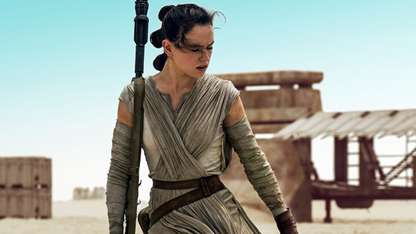 Daisy Ridley was great as newcomer Rey in  Star Wars: The Force Awakens .