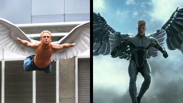 Ben Foster (left) as Angel in Last Stand vs Ben Hardy (right) as Angel turned Archangel in  X-Men: Apocalypse .  They look about the same age despite  X-Men: The Last Stand  taking place 20 years later.