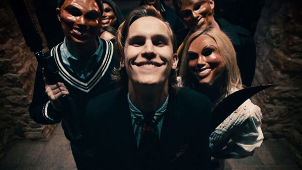The antagonists of  The Purge – effectively creepy and psychotic.