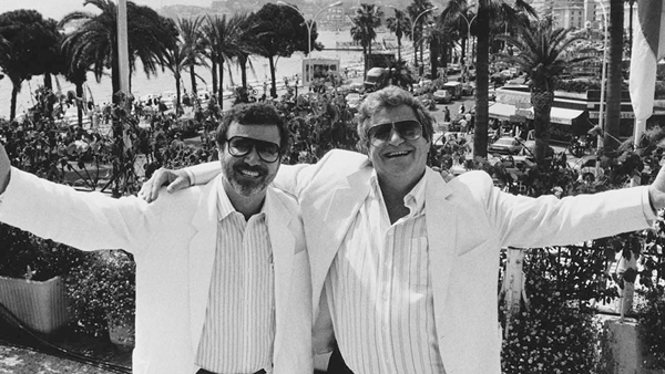 Cannon Films owners Yoram Globus (left) and Menahem Golan (right) were on top of the world during the '80s…well, to them they were.