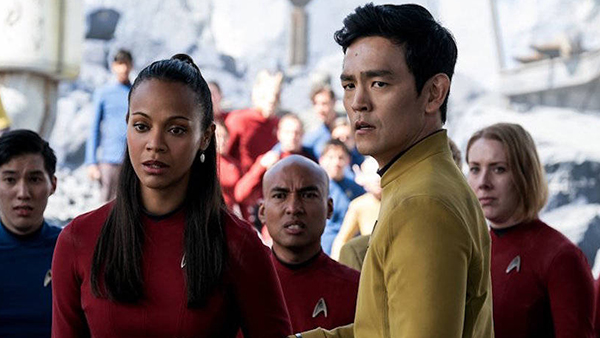 Uhura and Sulu are trying to figure out how that character could suddenly change their appearance without explanation or reason.