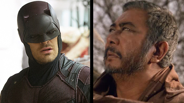 Blind  and  badass: Daredevil (Charlie Cox, left) and Zatoichi (Shintaro Katsu, right) prove that being blind doesn't make you helpless.