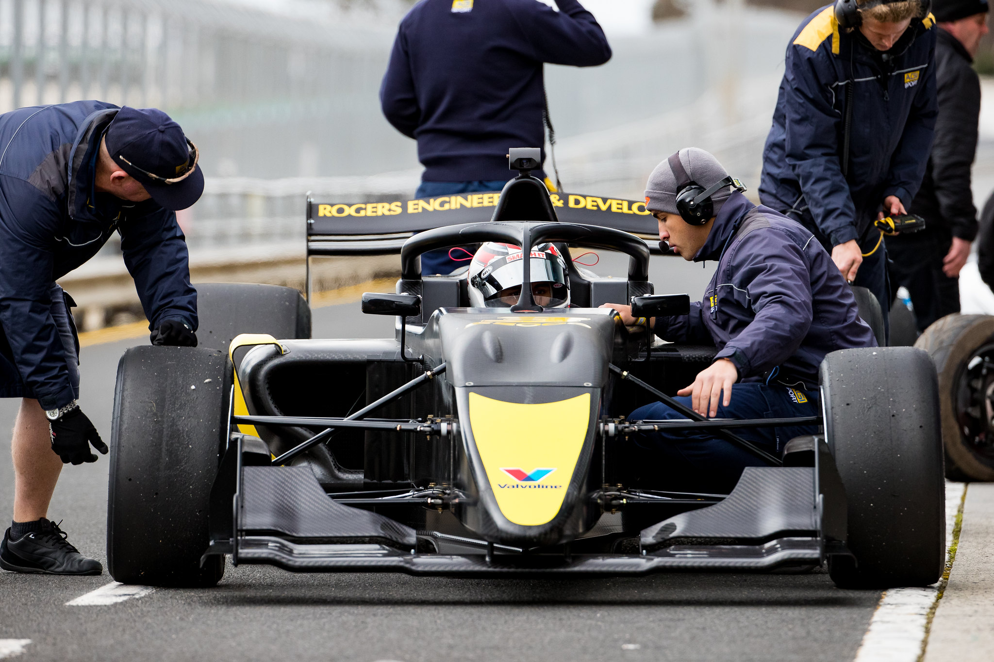 Luis Leeds test the new S5000 car at Phillip Island                                                    pic supplied via Speedcafe