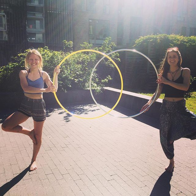 Two of my beautiful hula hoop making angels. ❣️