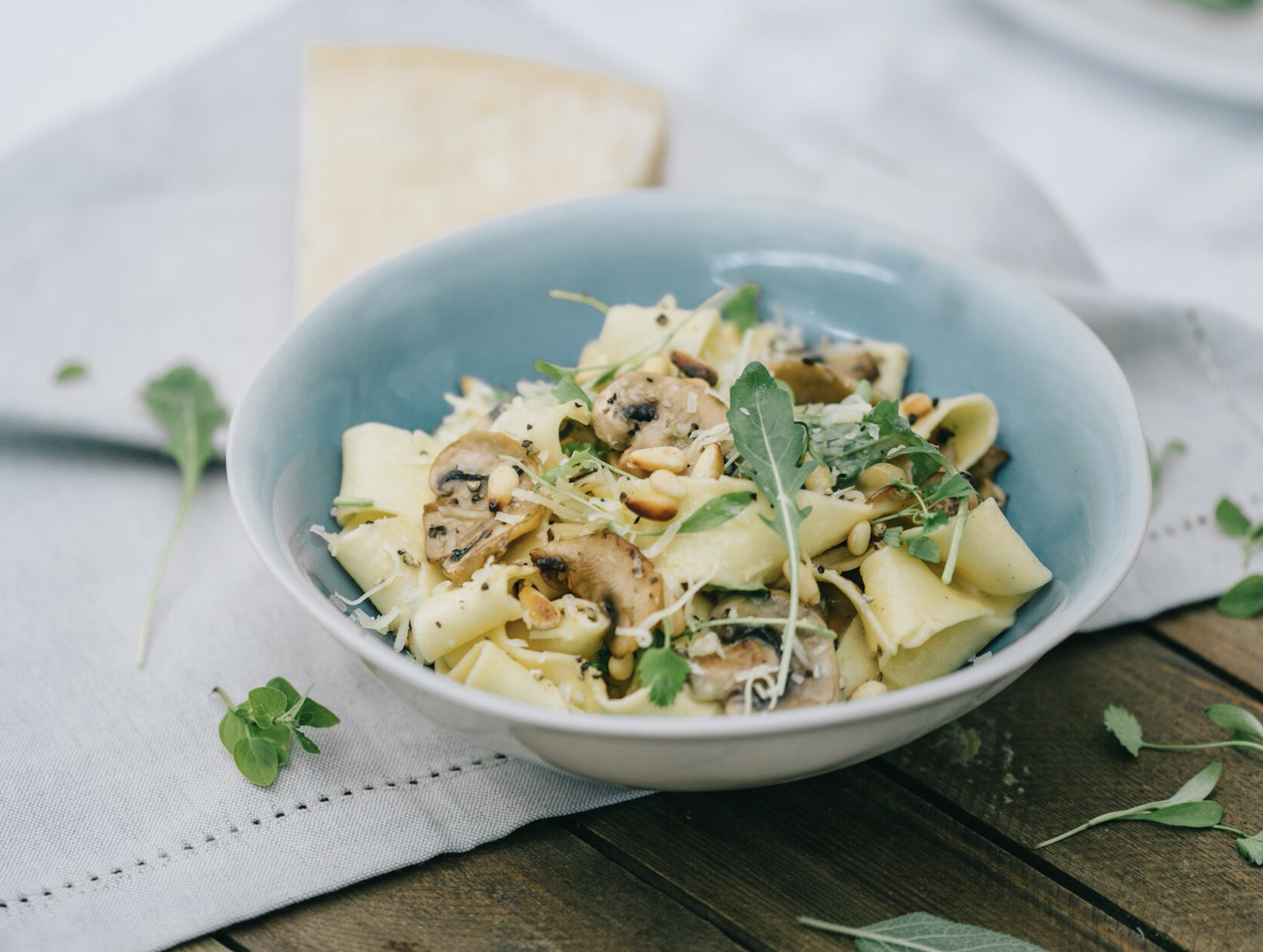 Mushroom Pappardelle & Parmesan