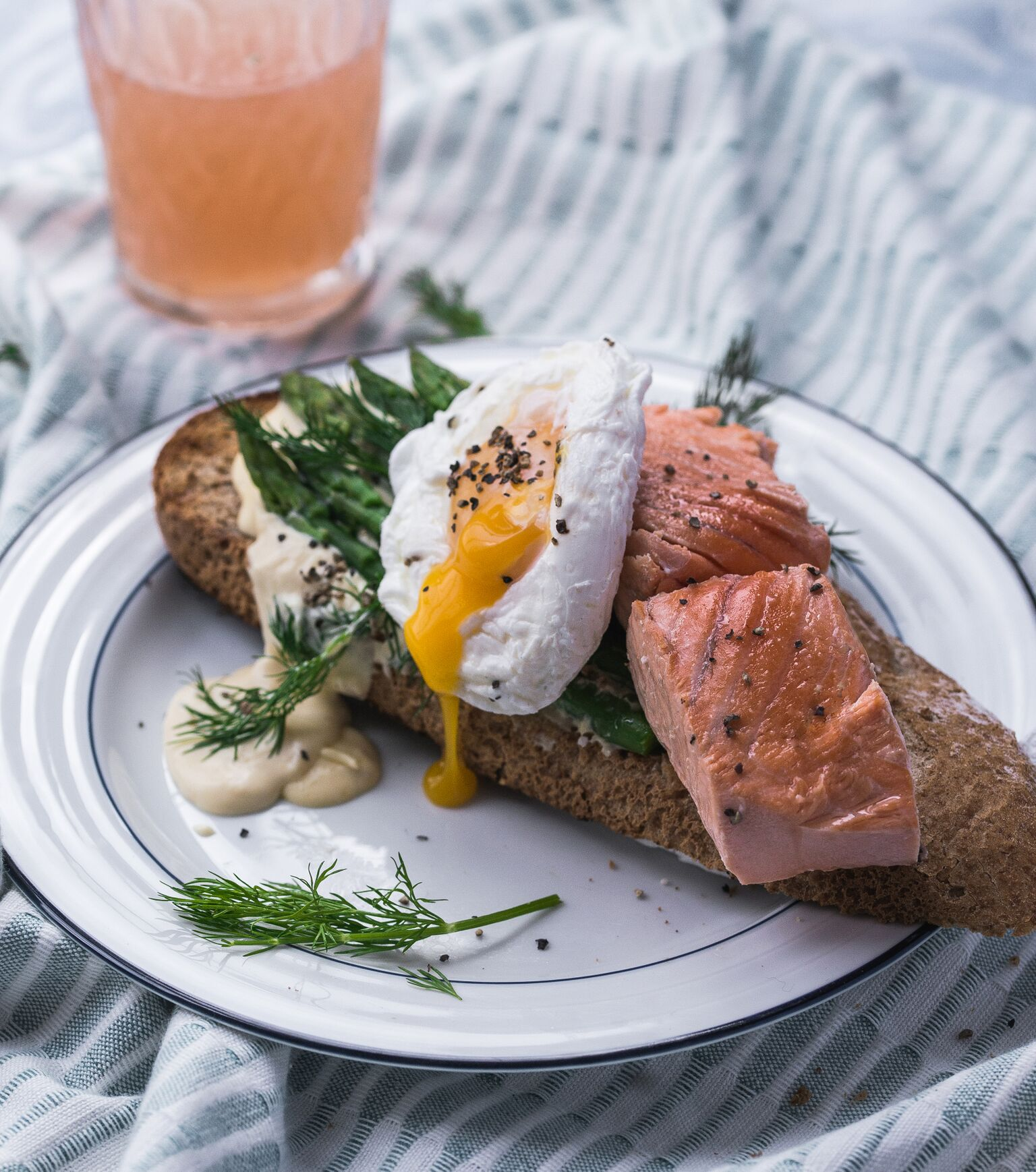 Poached Egg and Salmon on Toast