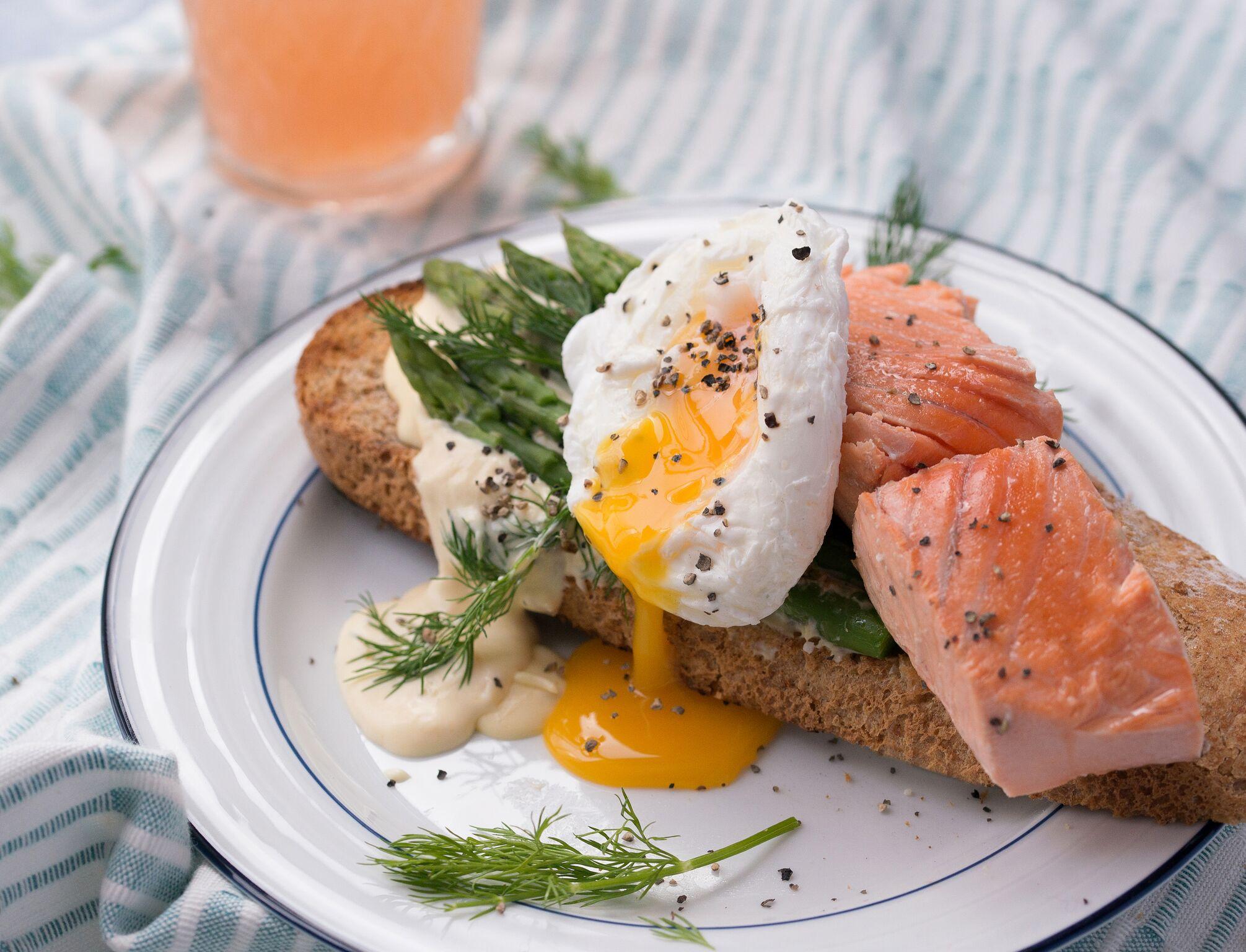 BigFish Brand Organic Salmon and Poached Egg on Toast