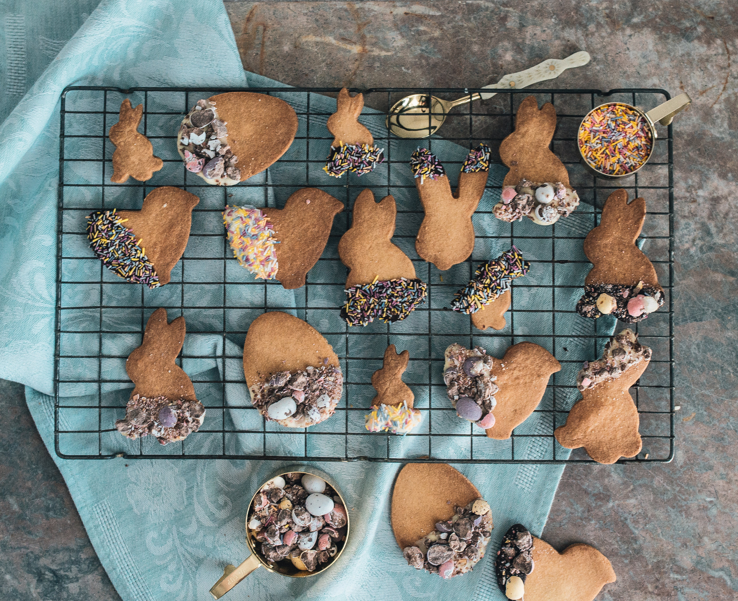 The Creative Larder, Easter Shaped Shortbread Biscuits