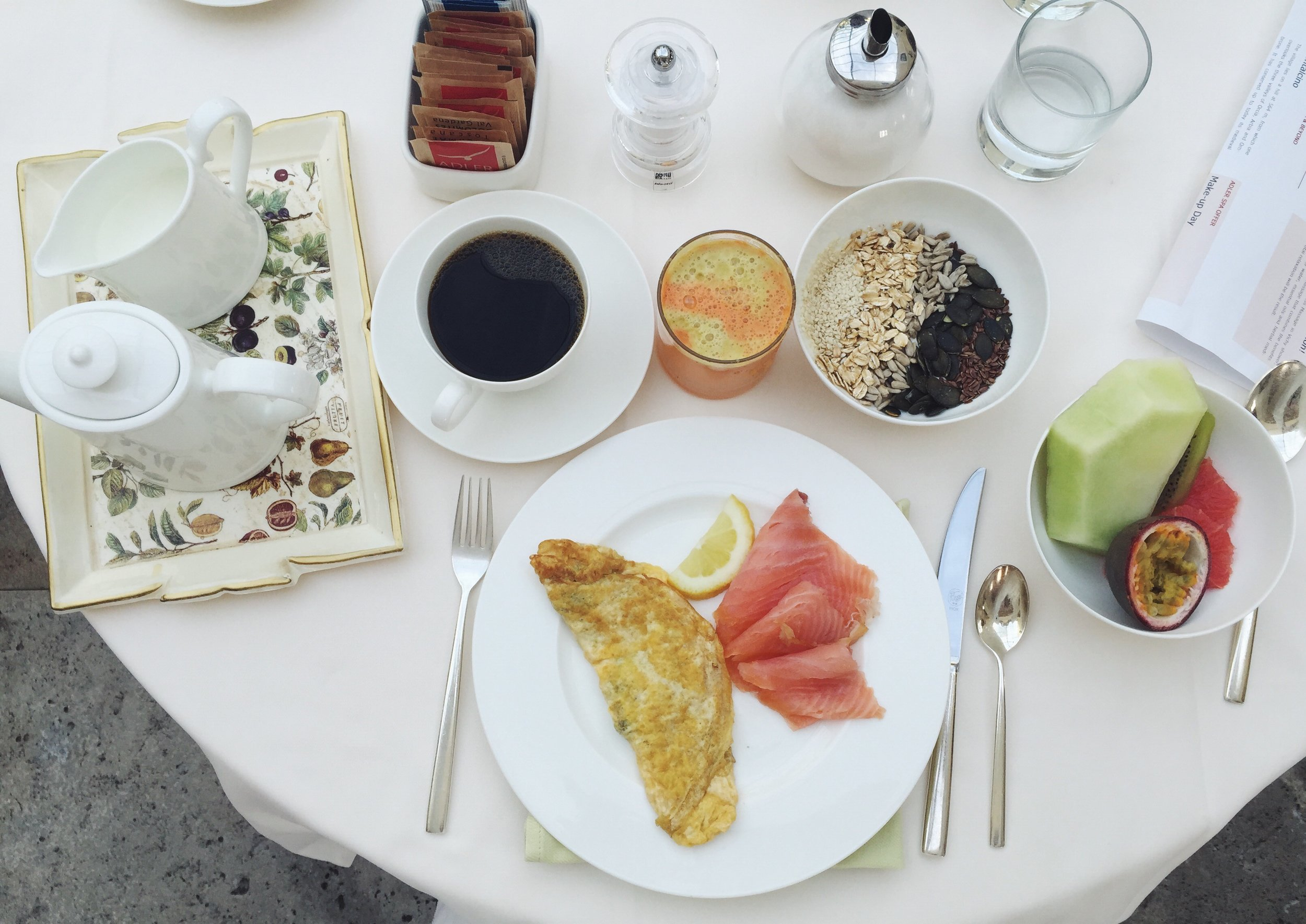 Adler Thermae Spa Resort, The Creative Larder Travel Writer Review, Breakfast.