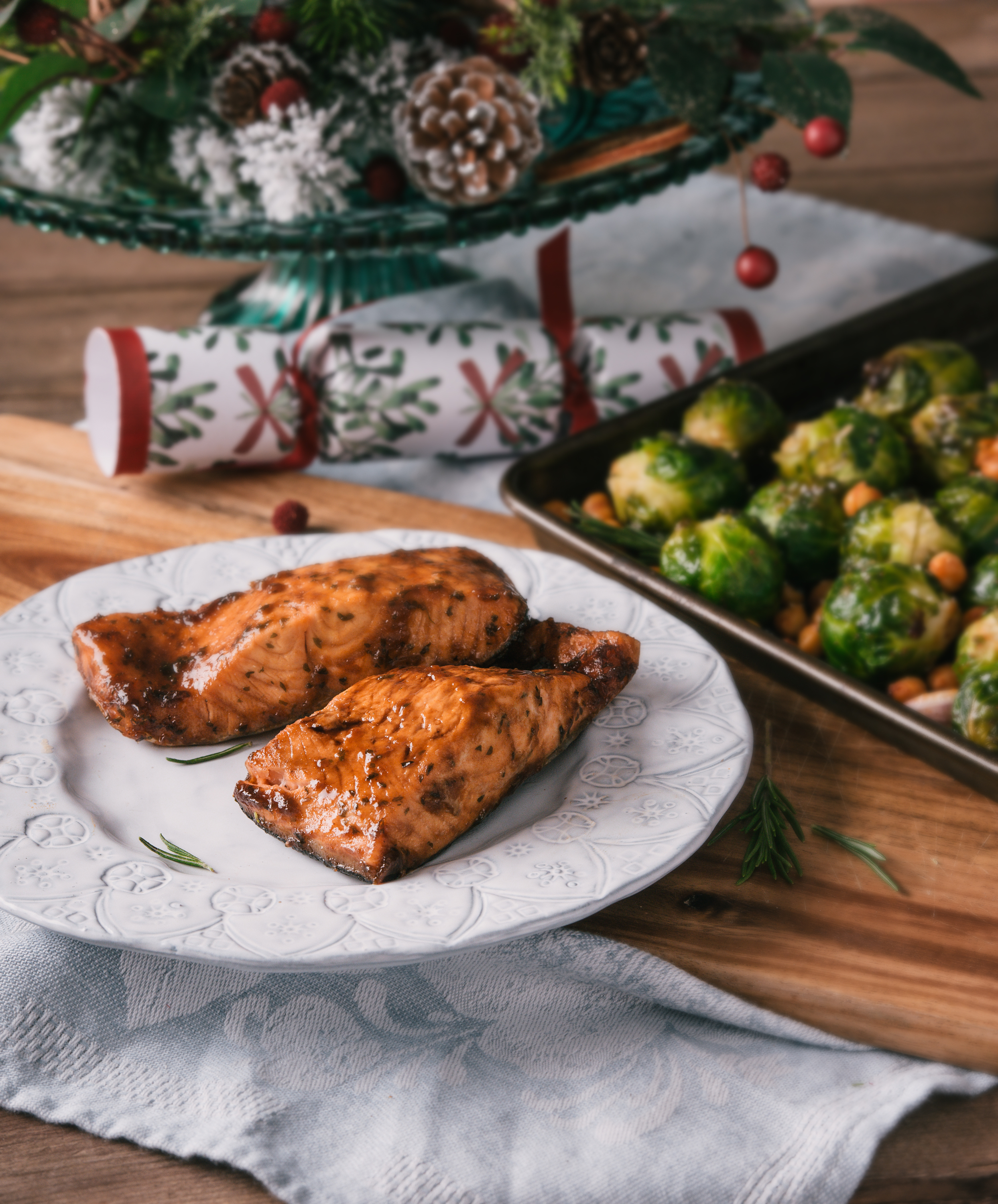 BigFish Brand Sticky Maple Salmon with Chickpeas and Sprouts, The Creative Larder Food Styling