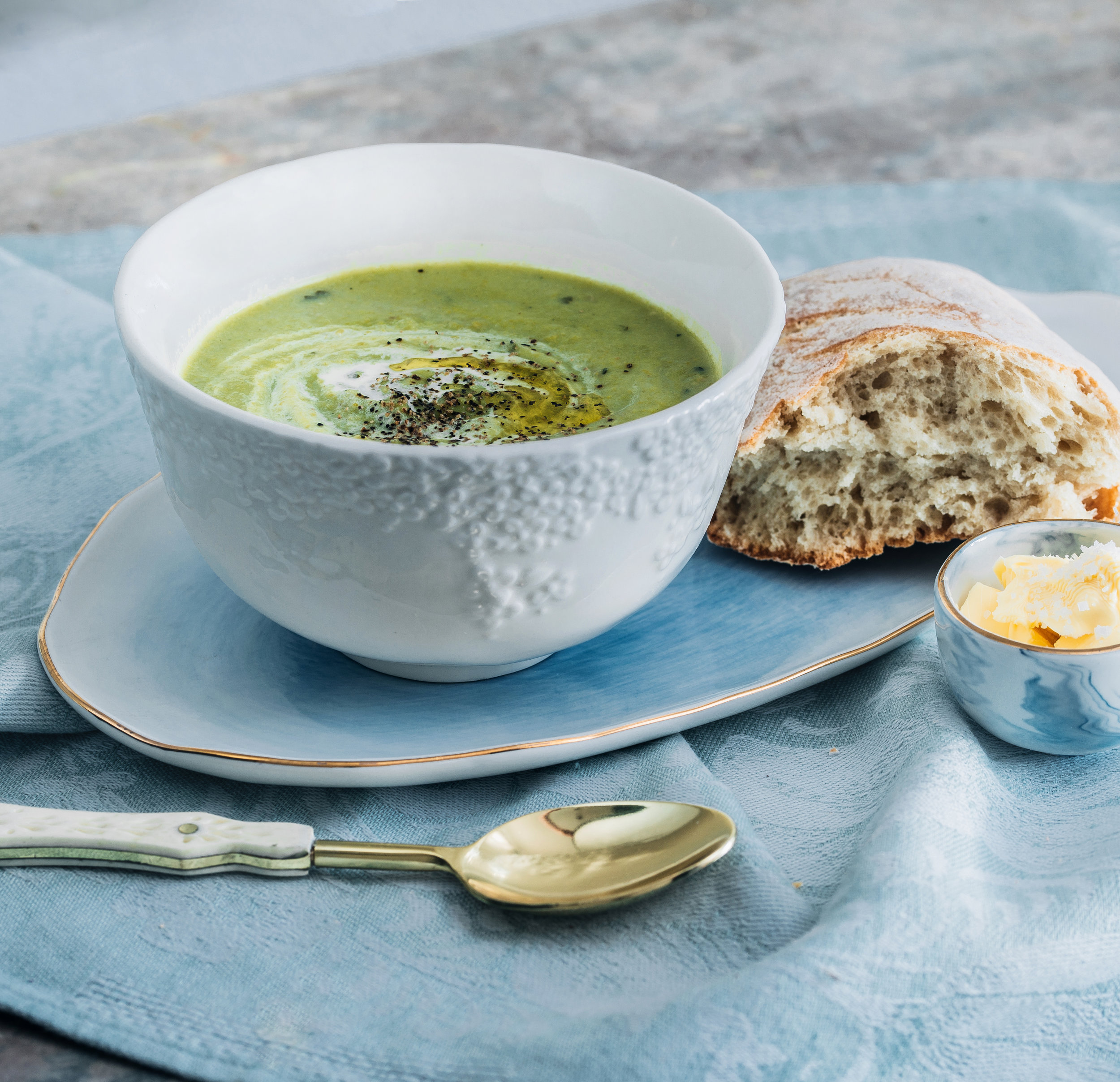 Pea and Ham Soup, Food styling with Anthropologie.jpg
