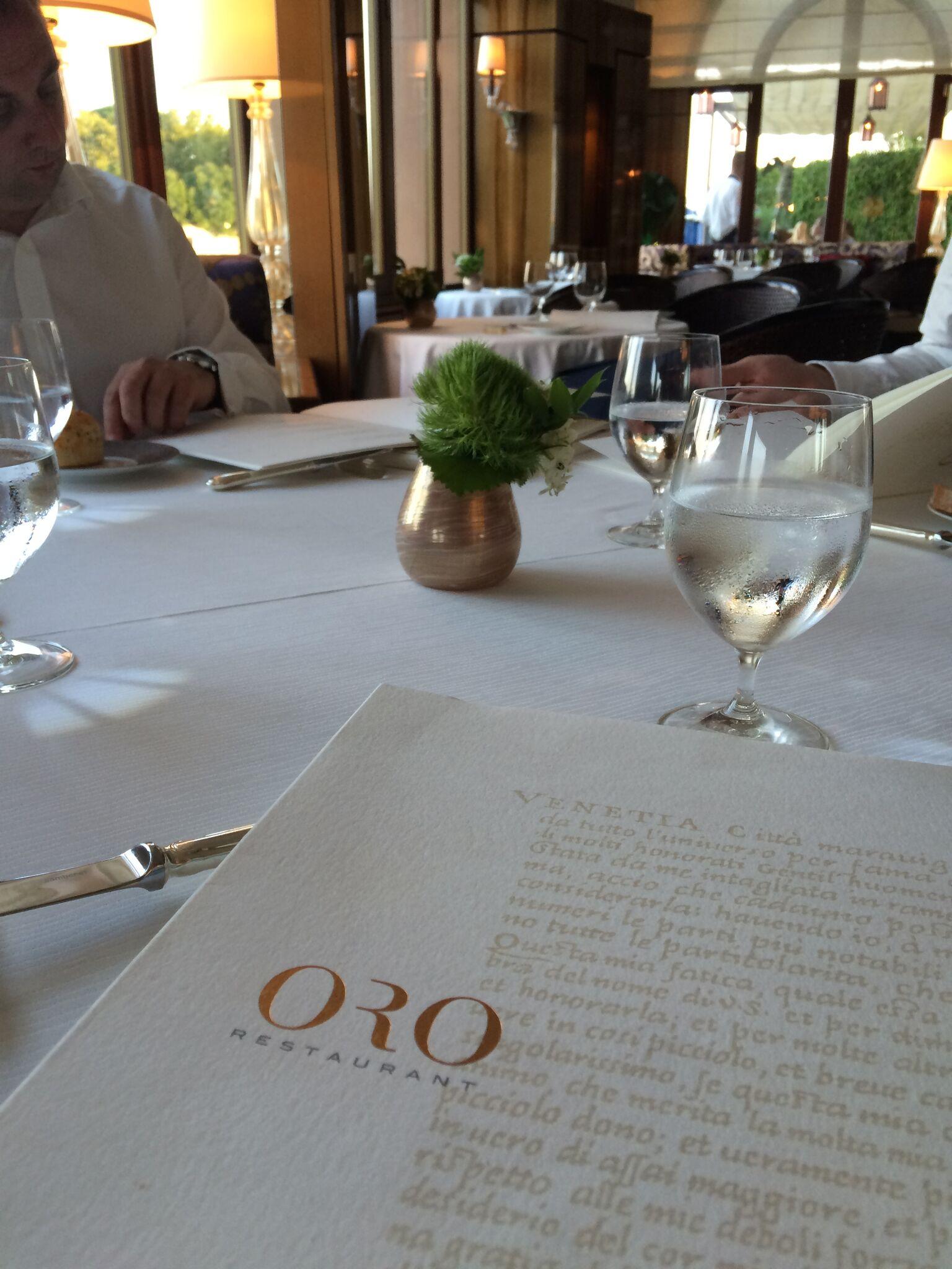 Belmond Cipriani Oro Restaurant Venice