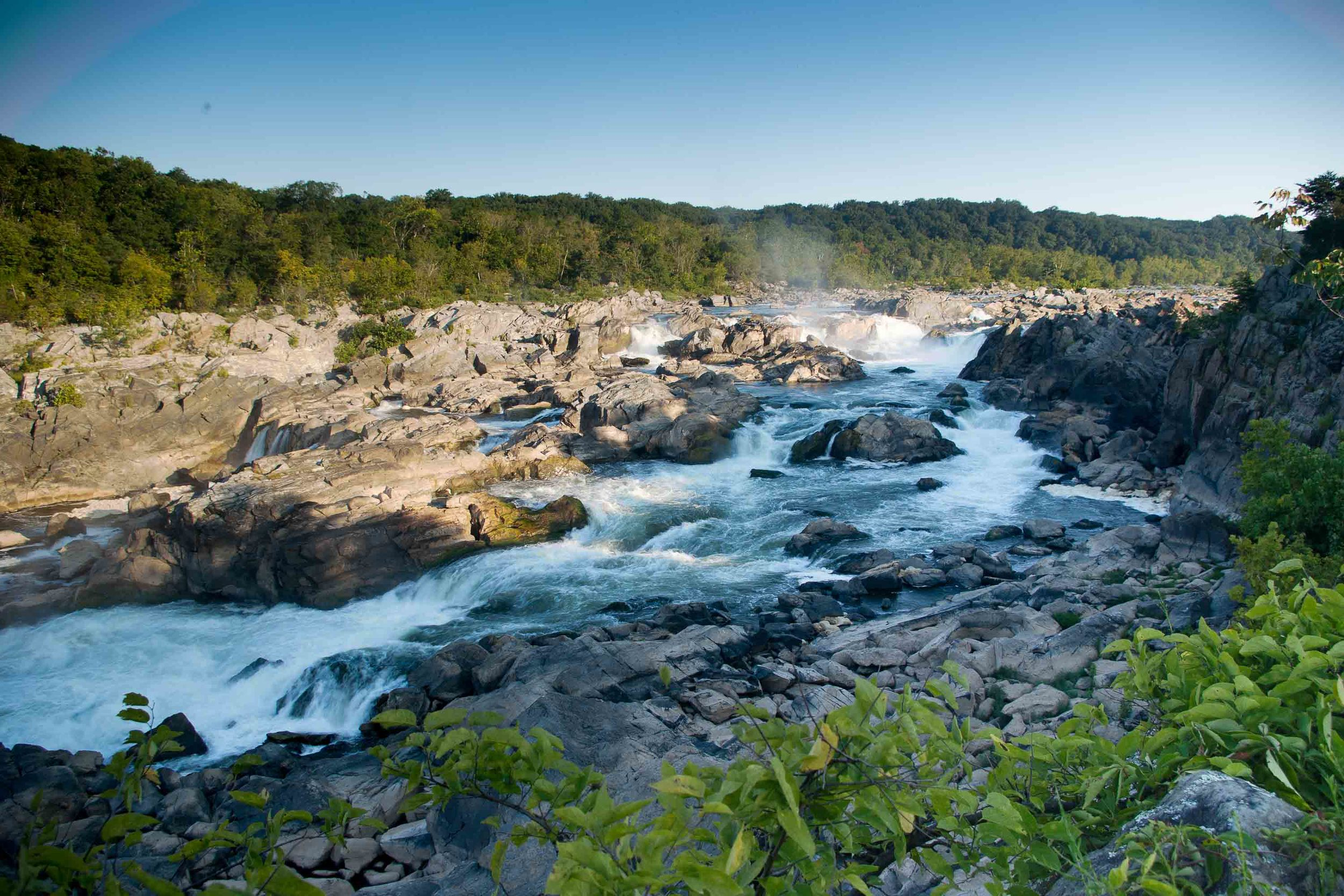 Great Falls from the Maryland shore