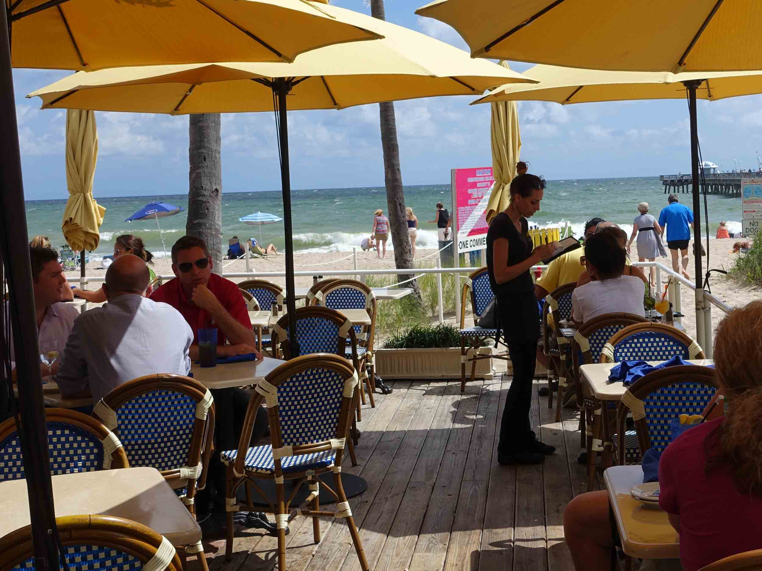 Aruba Beach Cafe Outdoor Dining Area