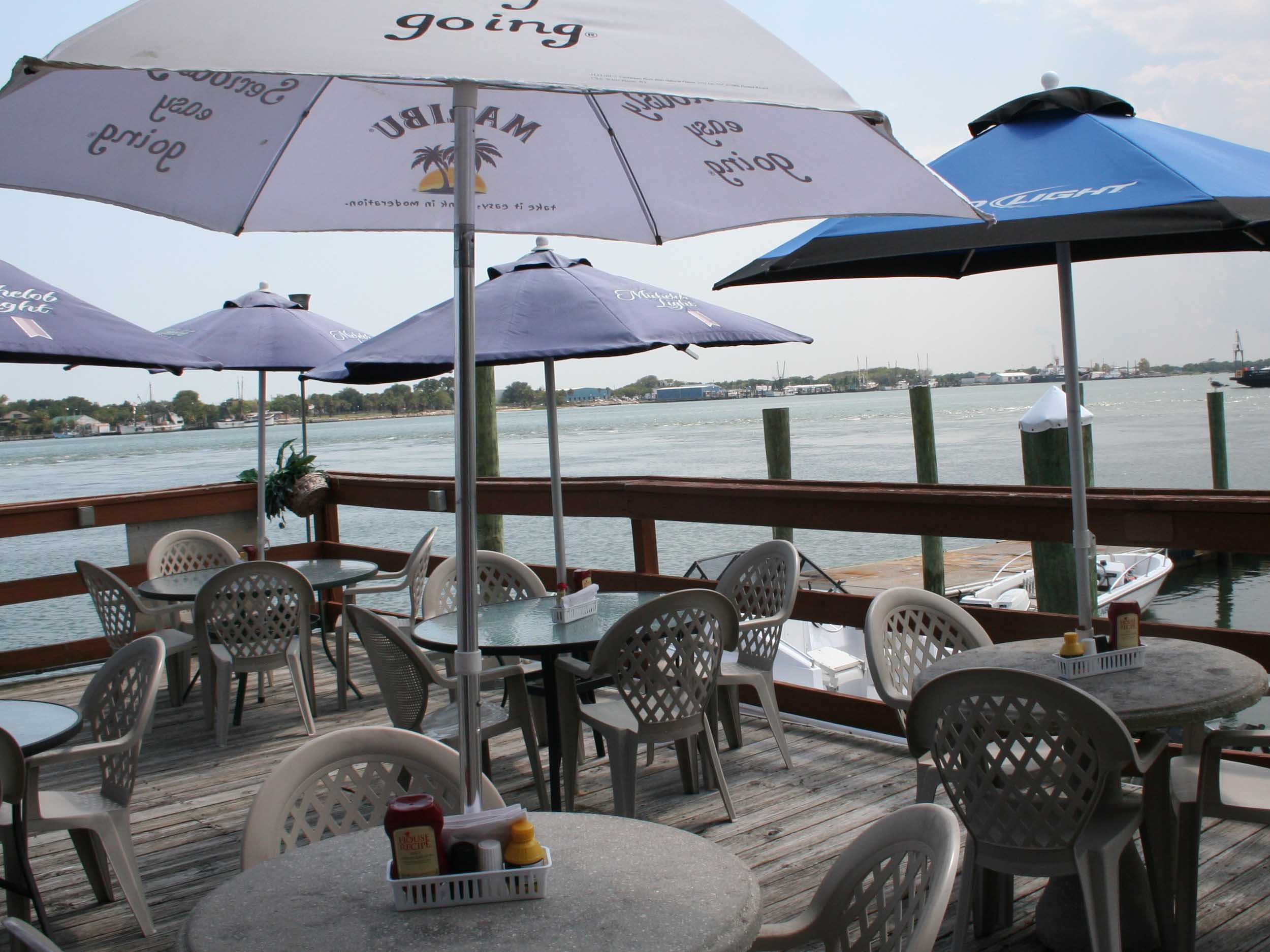 Sandollar Restaurant and Marina Water View